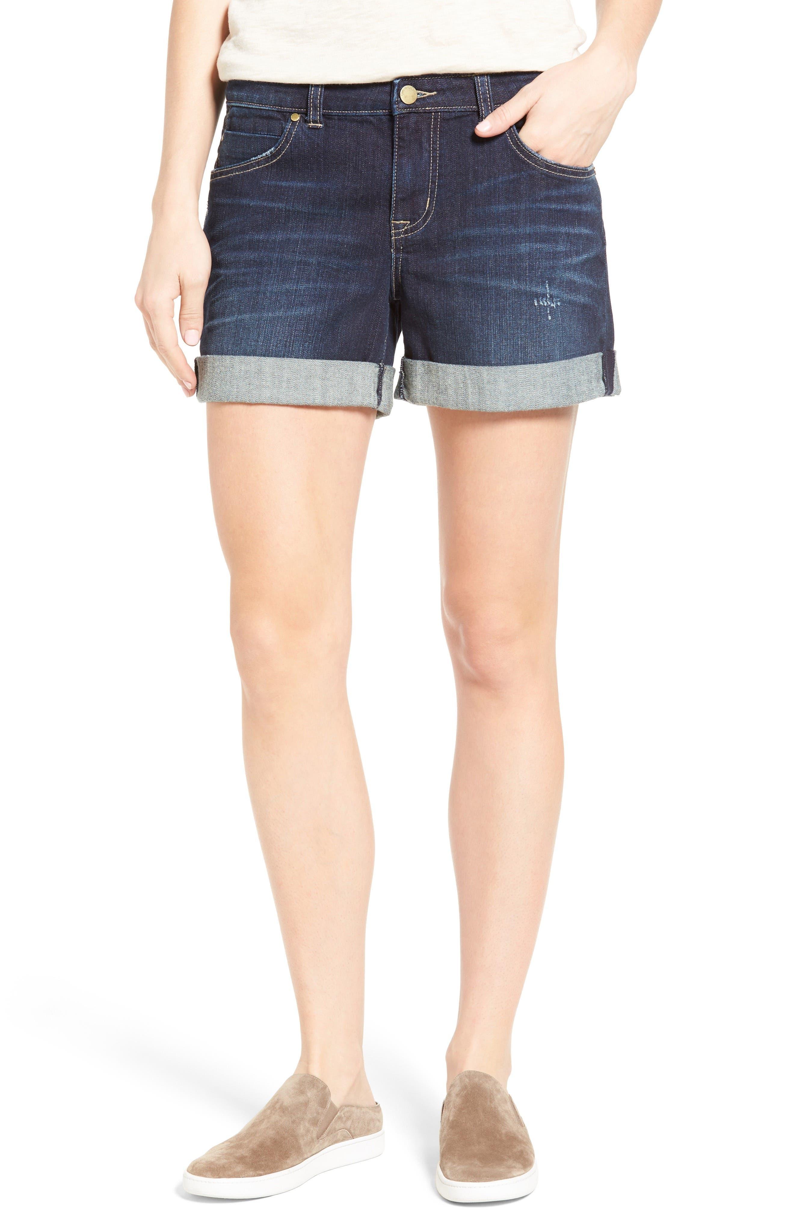 Alternate Image 1 Selected - Caslon® Denim Boyfriend Shorts (Regular & Petite)
