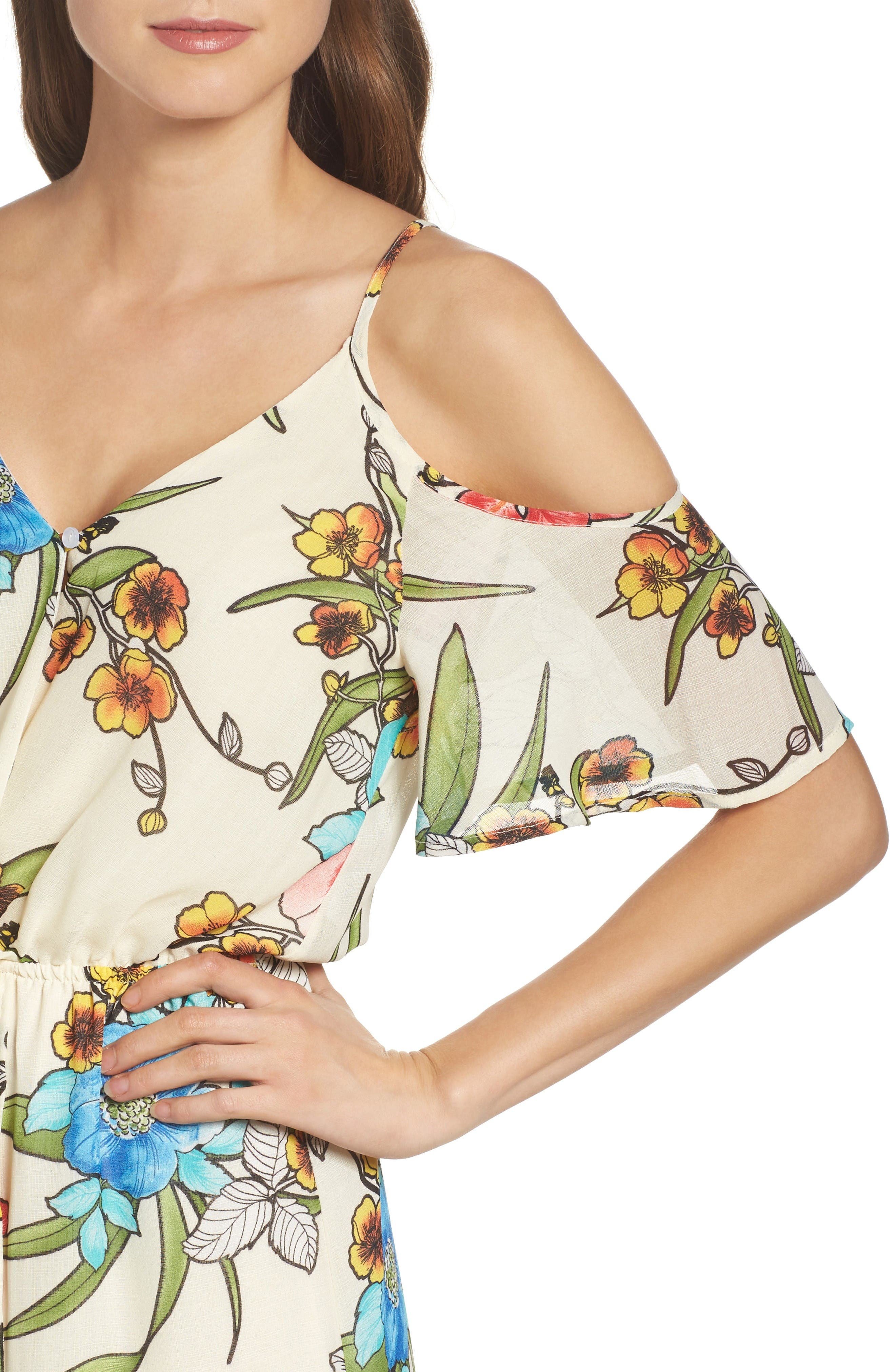 Alternate Image 4  - Fraiche by J Cold Shoulder Maxi Dress