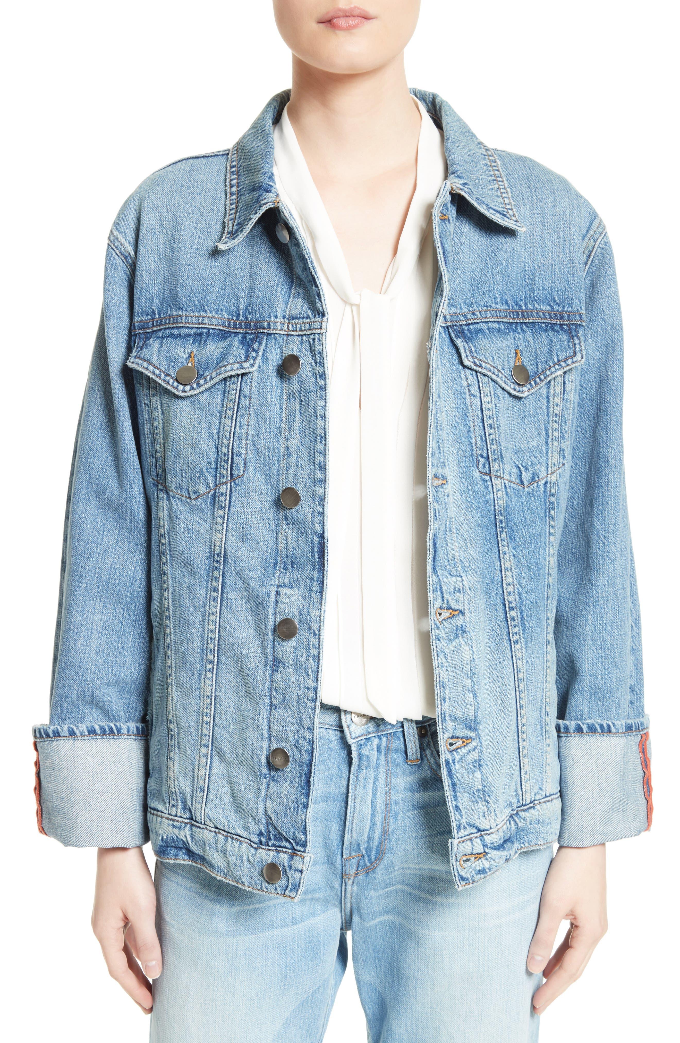 FRAME Le Oversized Denim Jacket