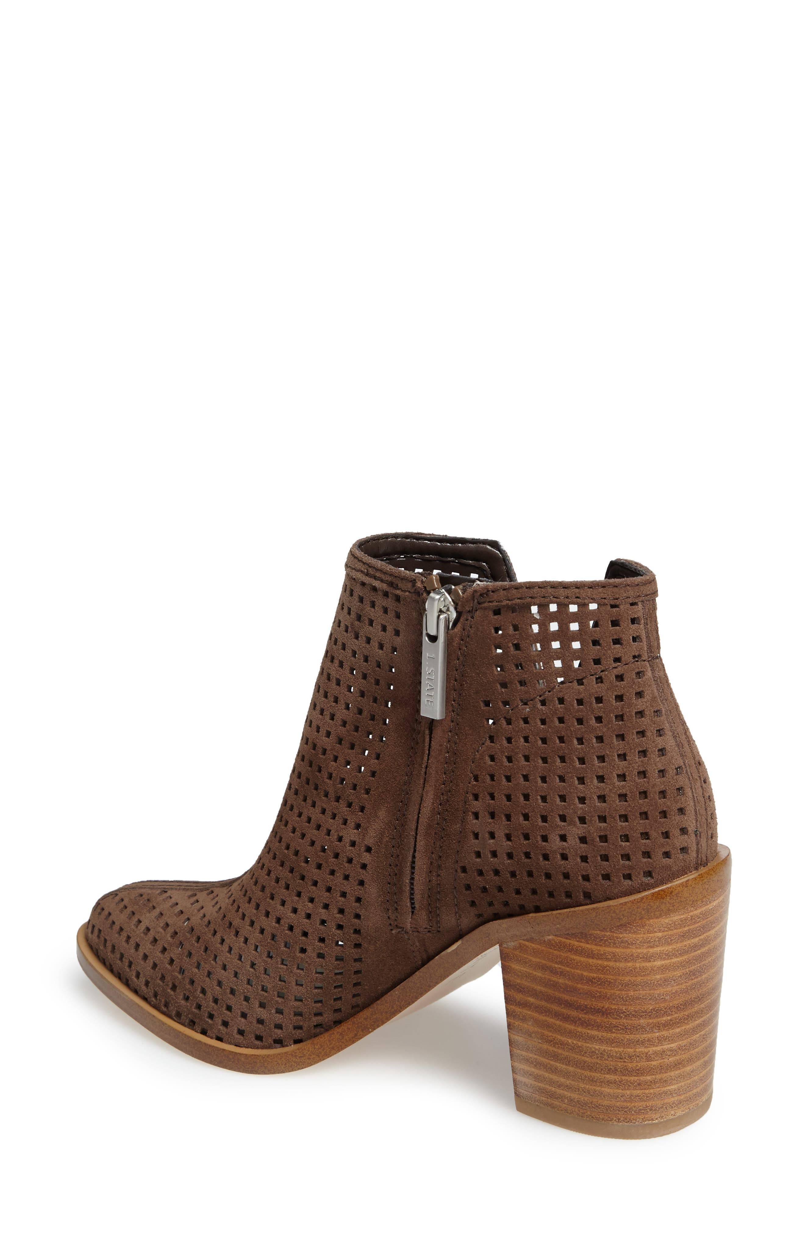 1. STATE Larocka Perforated Bootie,                             Alternate thumbnail 2, color,                             Mink