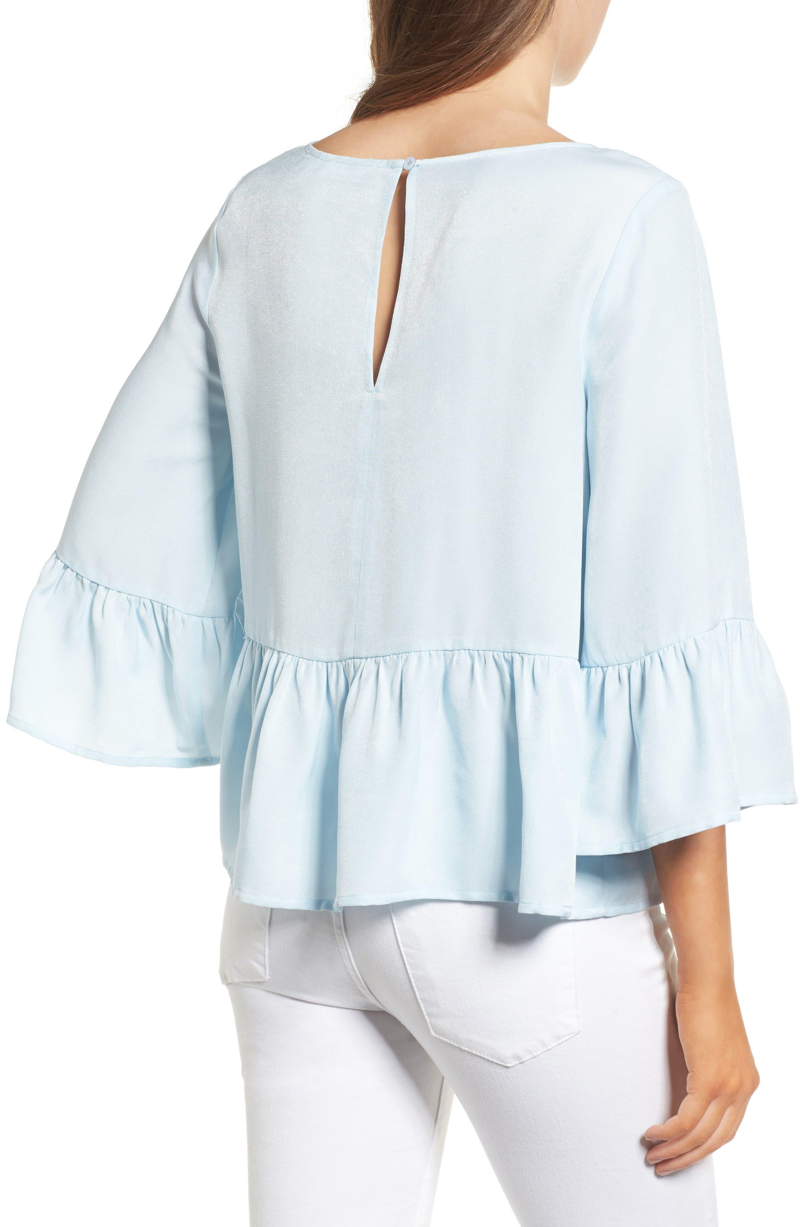 Alternate Image 2  - Chelsea28 Ruffle Sleeve Blouse