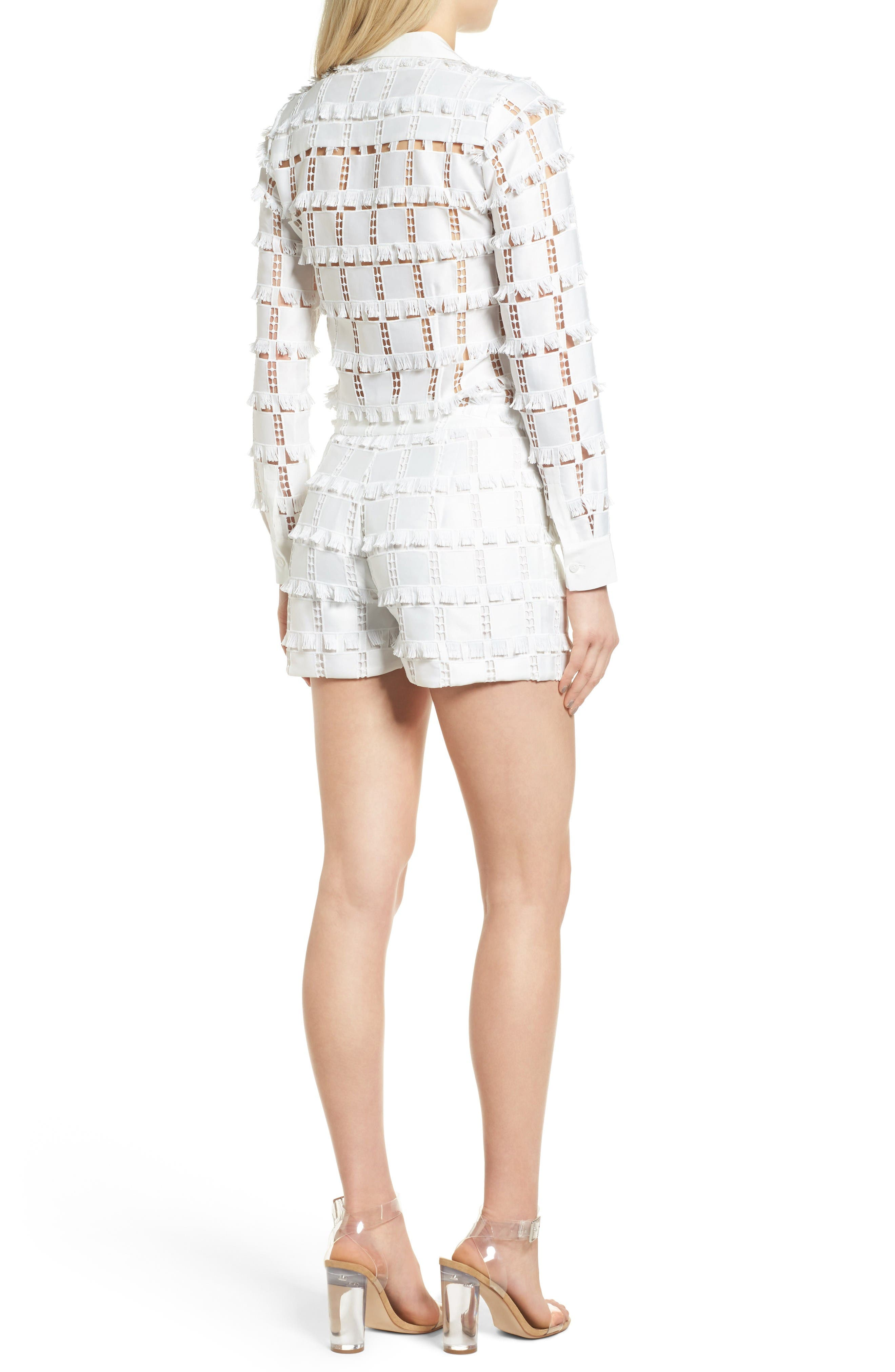 Lace Romper,                             Alternate thumbnail 2, color,                             White