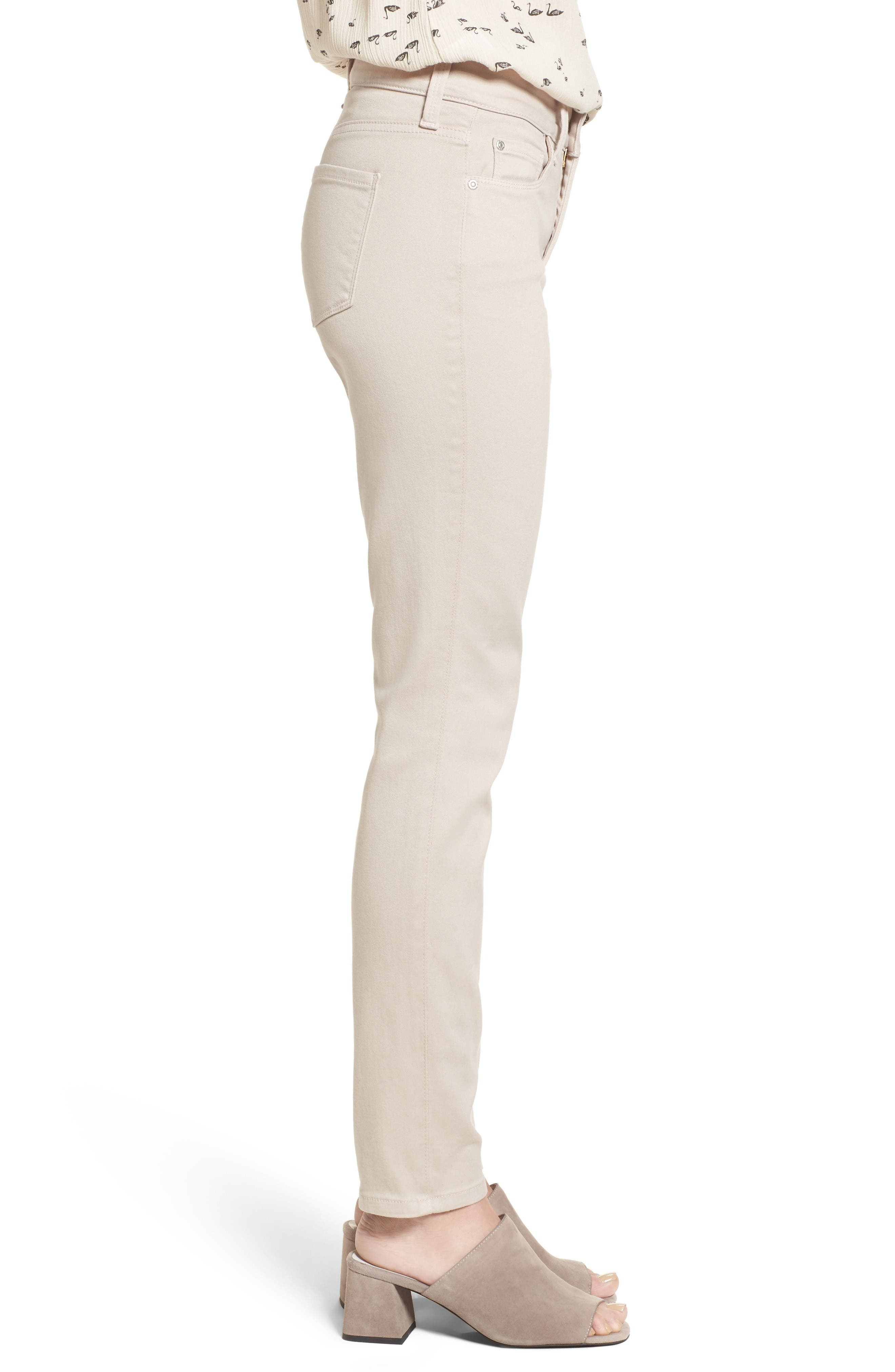 Alina Colored Stretch Skinny Jeans,                             Alternate thumbnail 3, color,                             Rose Mist