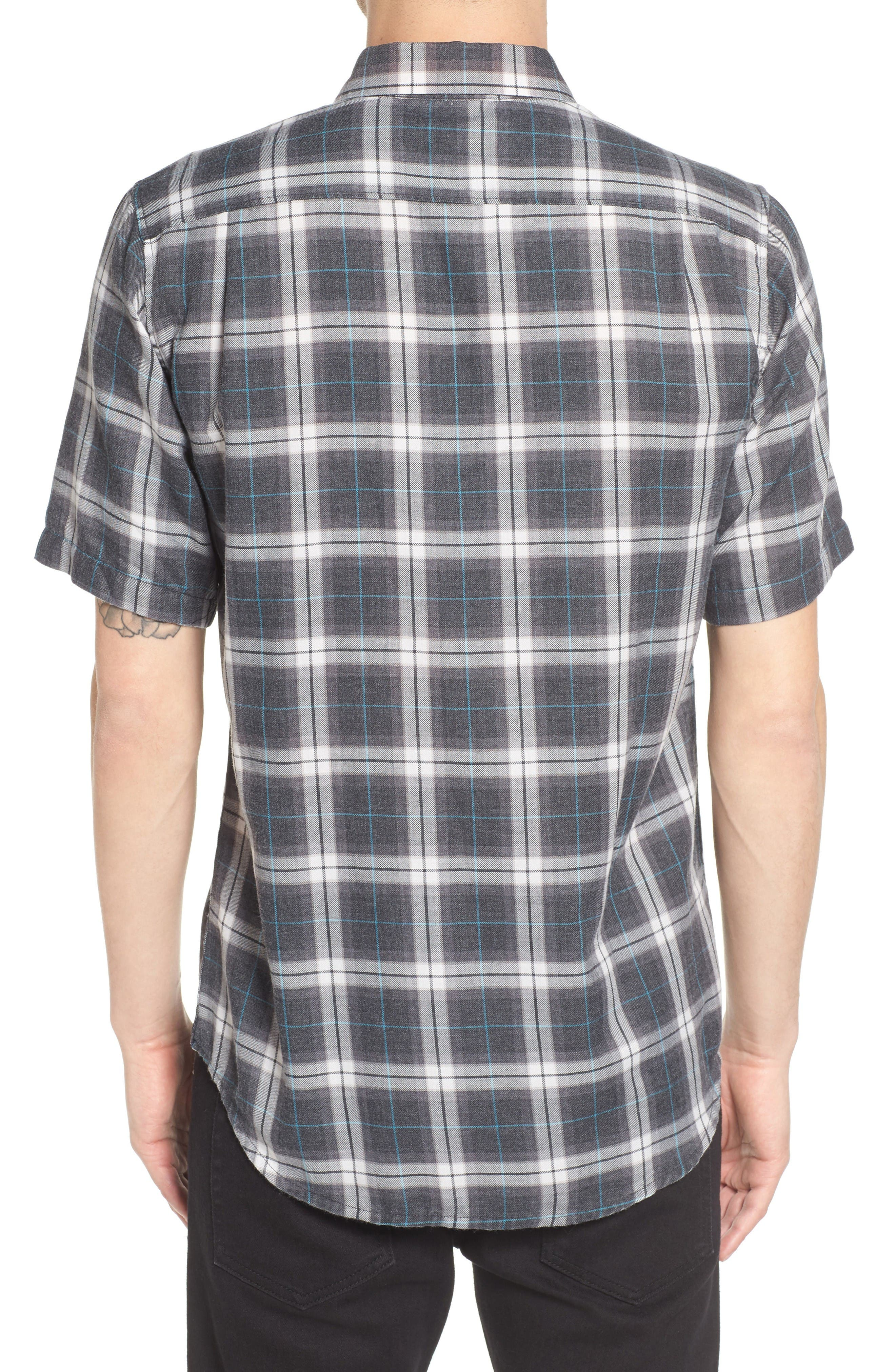 Plaid Shirt,                             Alternate thumbnail 2, color,                             Black