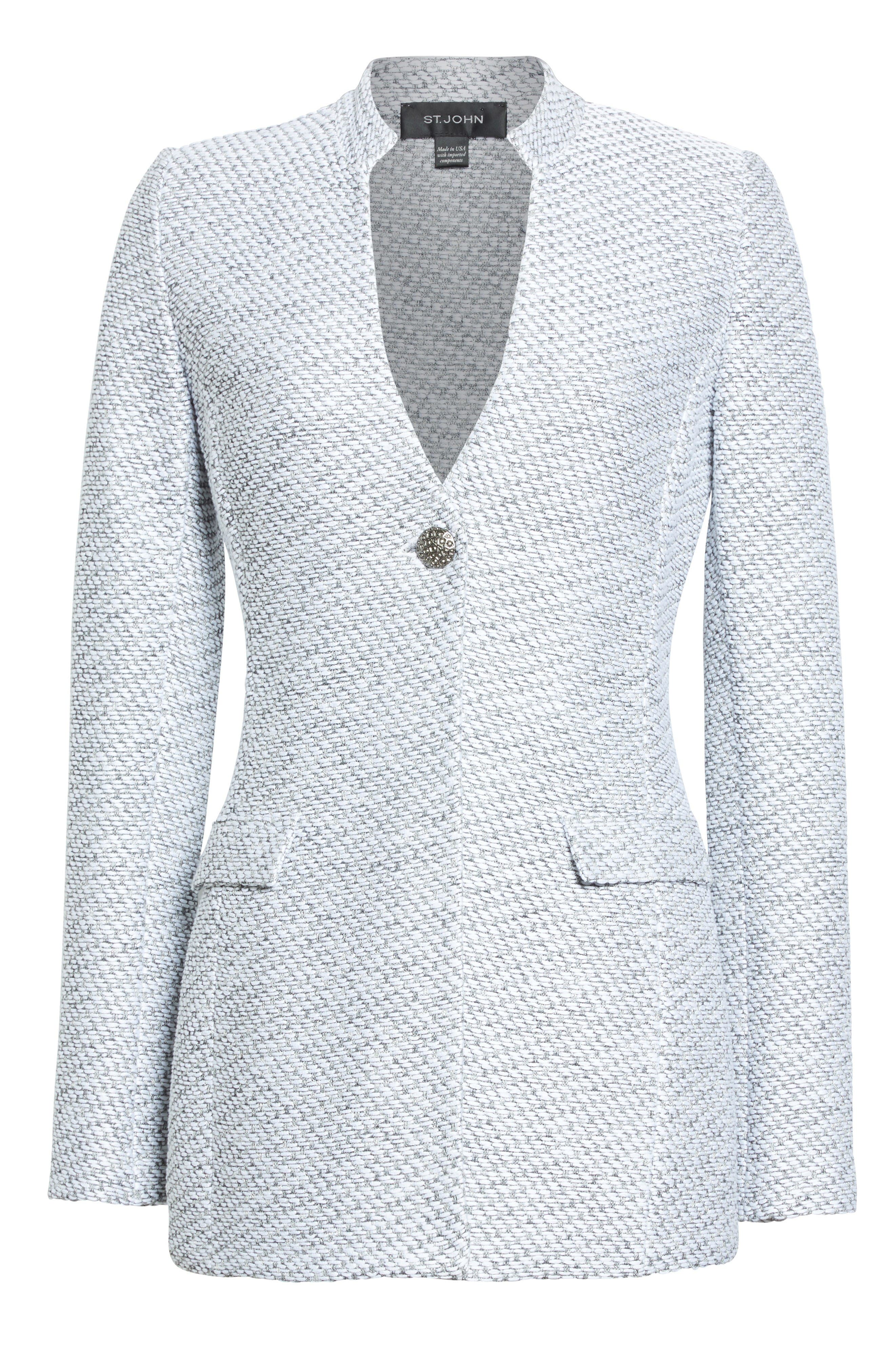 Gyan Knit Jacket,                             Alternate thumbnail 7, color,                             Bianco/ Mica Multi