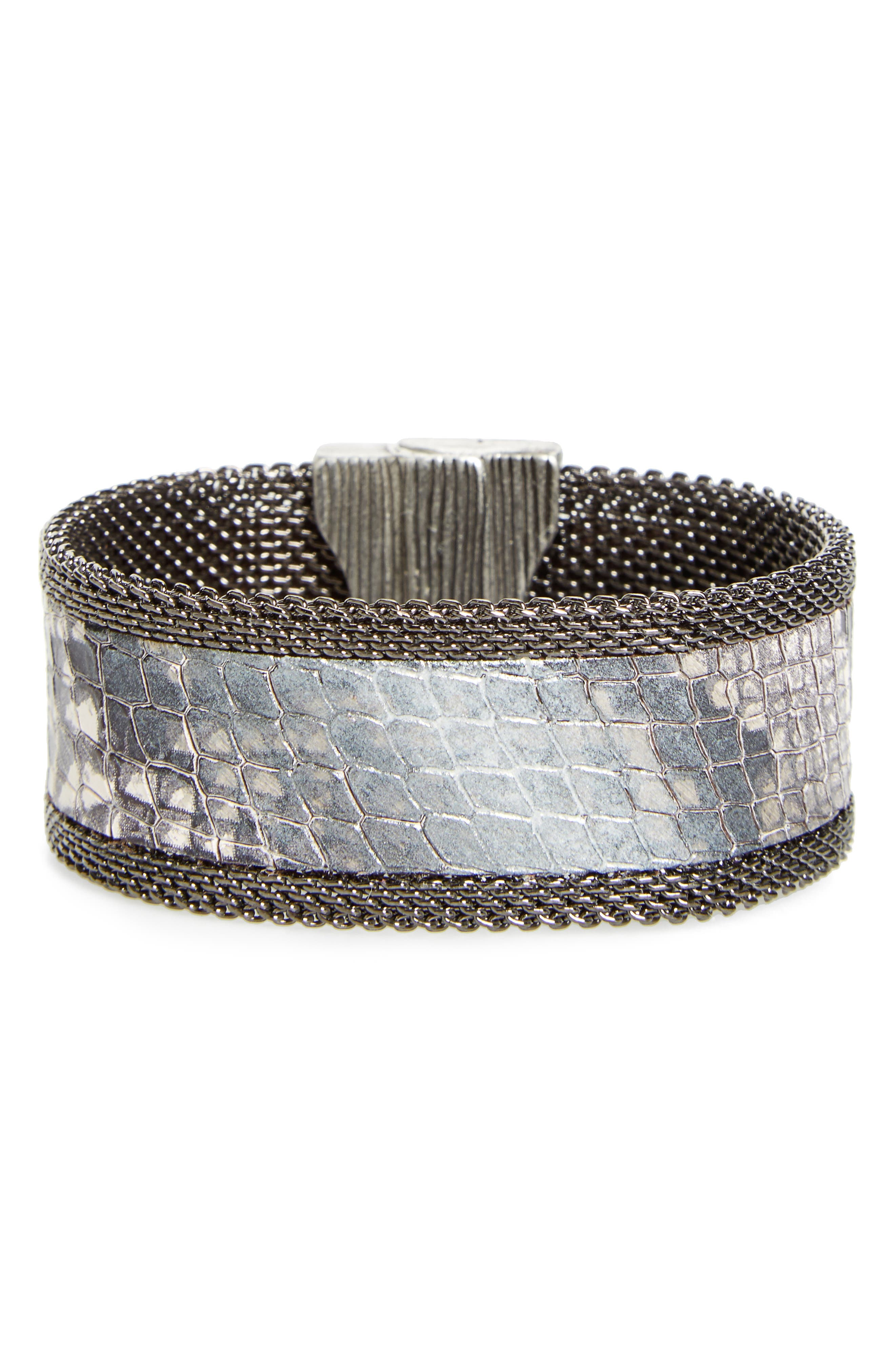 Main Image - Cynthia Desser Genuine Snakeskin Cuff
