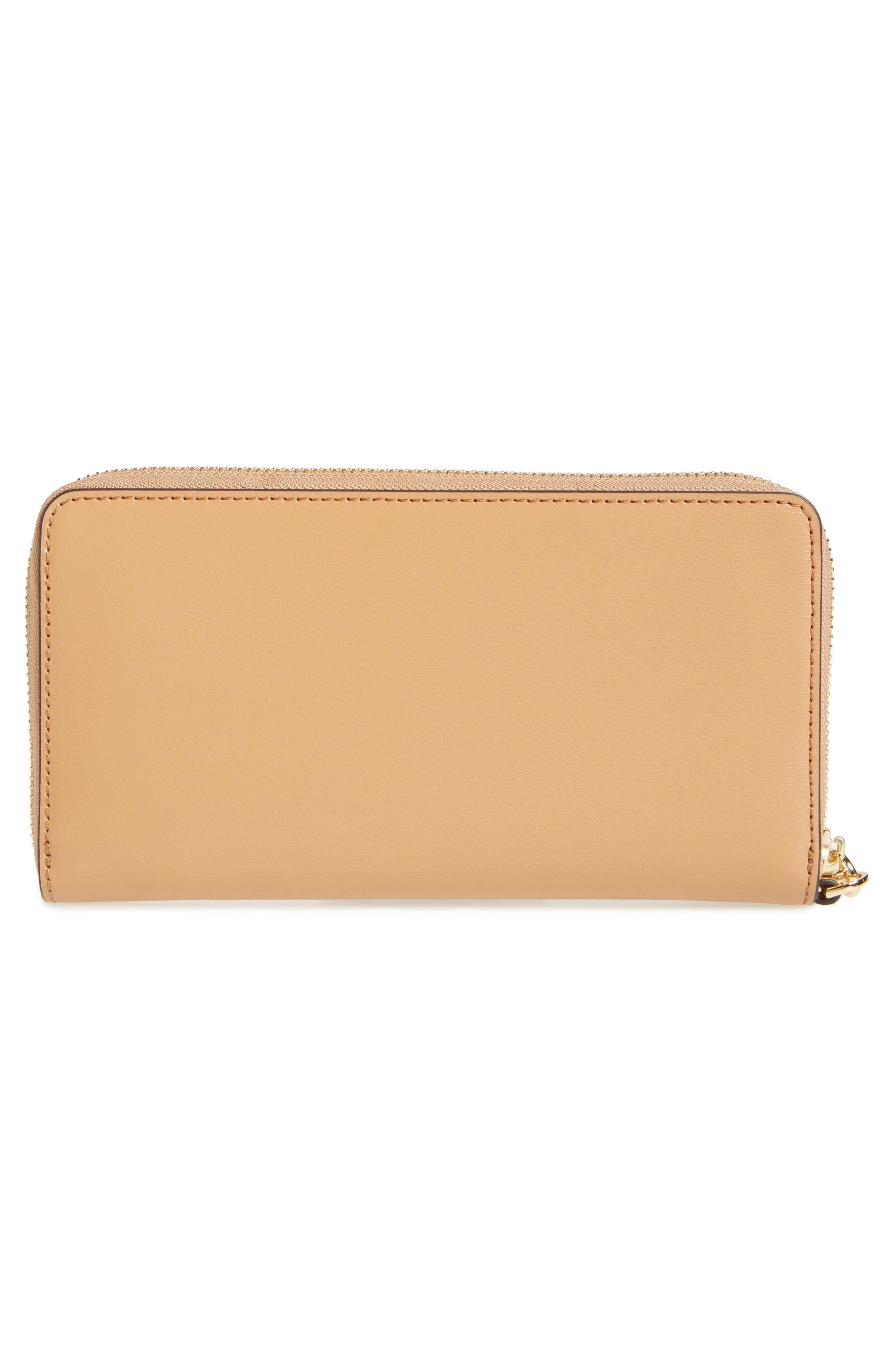 Parker Leather Continental Wallet,                             Alternate thumbnail 4, color,                             Cardamom