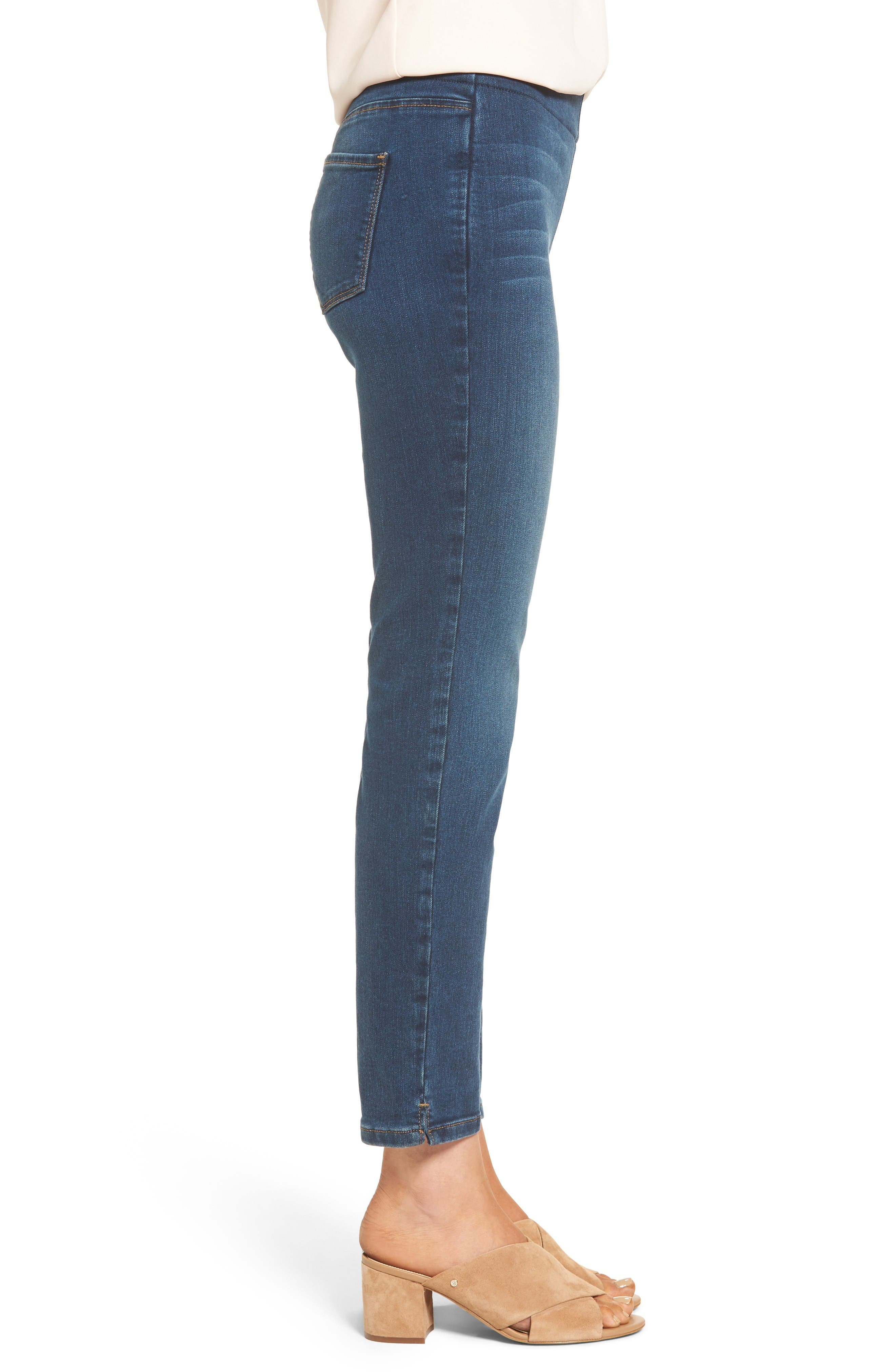 Alternate Image 3  - NYDJ Alina Pull-On Stretch Ankle Skinny Jeans (Sea Breeze) (Regular & Petite)