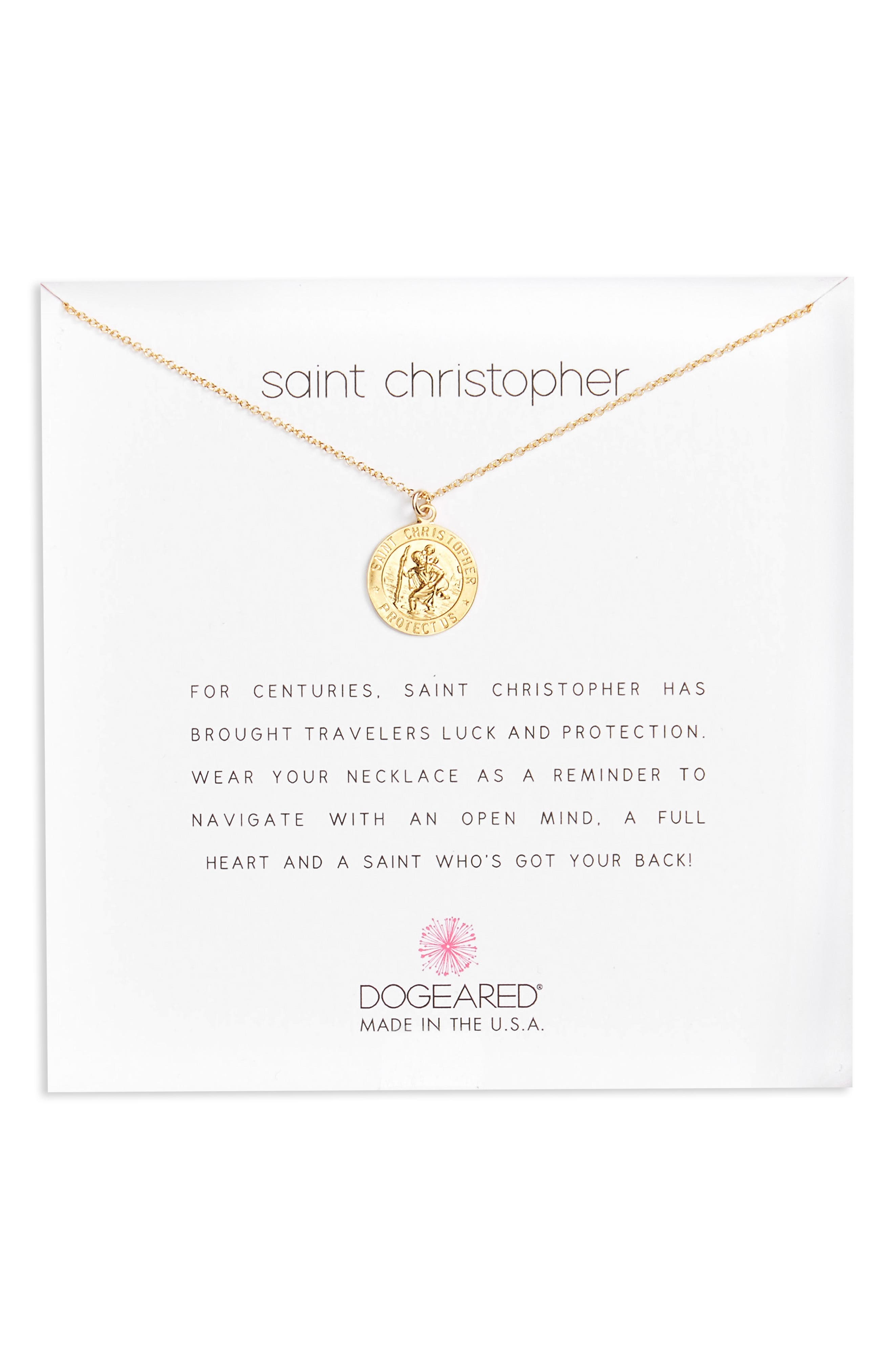 Alternate Image 1 Selected - Dogeared St. Christopher Pendant Necklace