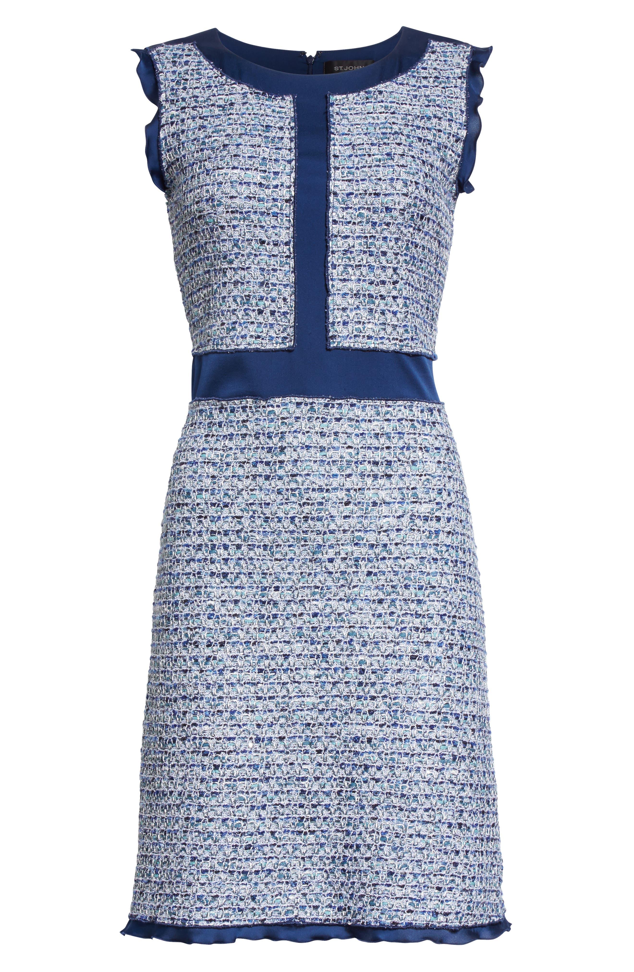 Alternate Image 6  - St. John Collection Kiara Tweed A-Line Dress