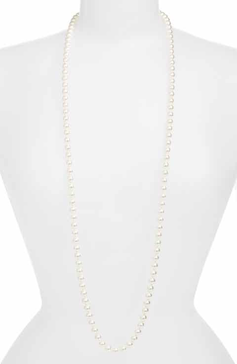 Necklaces nadri jewelry nordstrom nadri 42 inch glass pearl strand rope necklace aloadofball Image collections