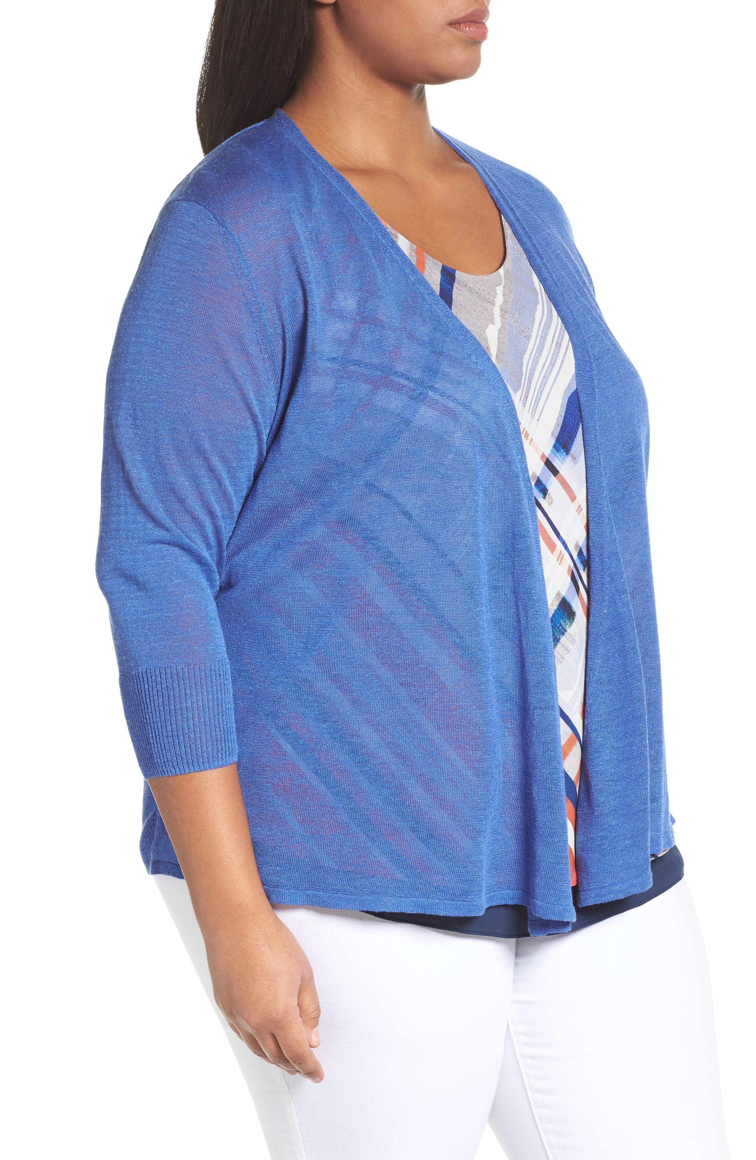Four-Way Convertible Cardigan,                             Alternate thumbnail 3, color,                             Poolside