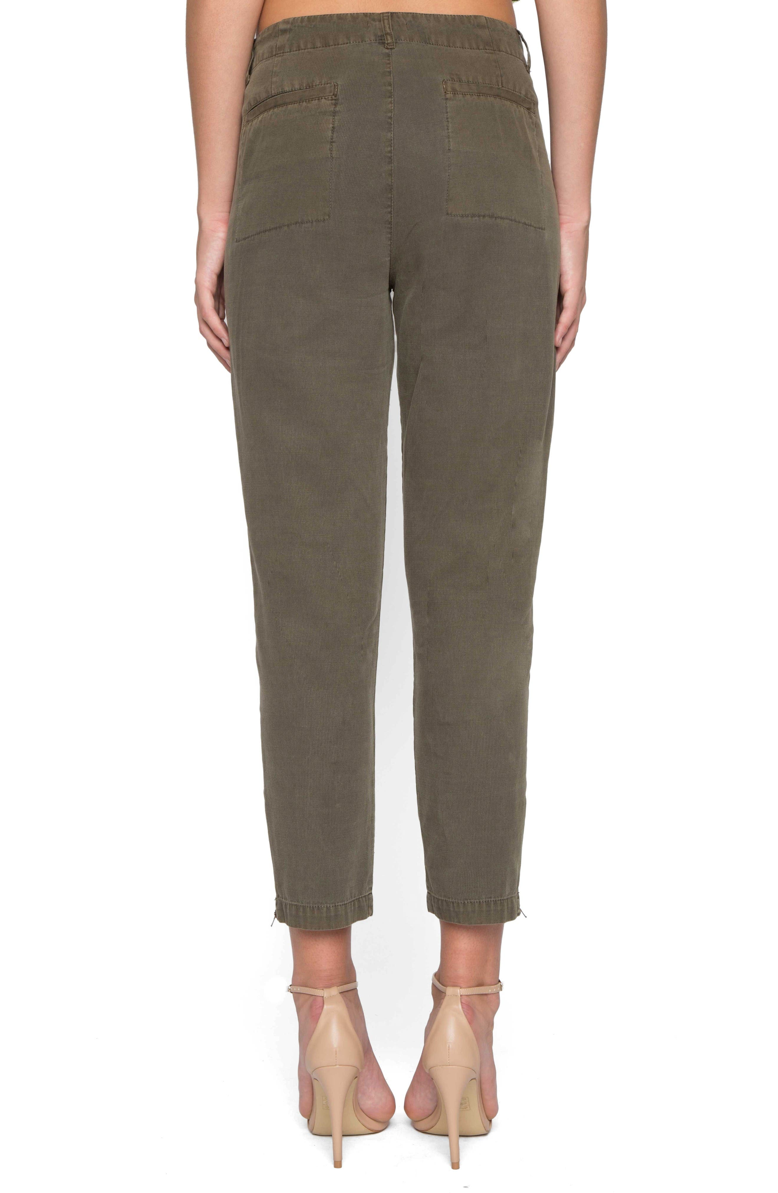 Alternate Image 2  - Willow & Clay High Waist Crop Twill Pants