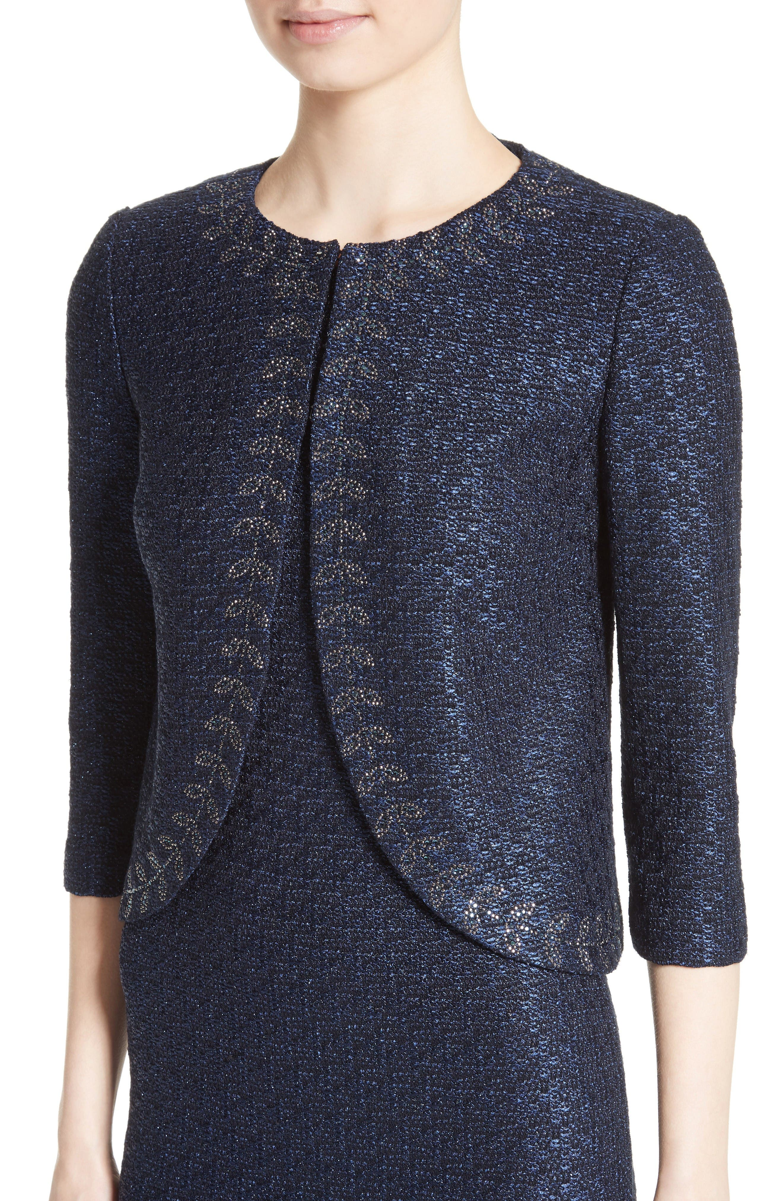 Alternate Image 4  - St. John Collection Jiya Sparkle Knit Jacket