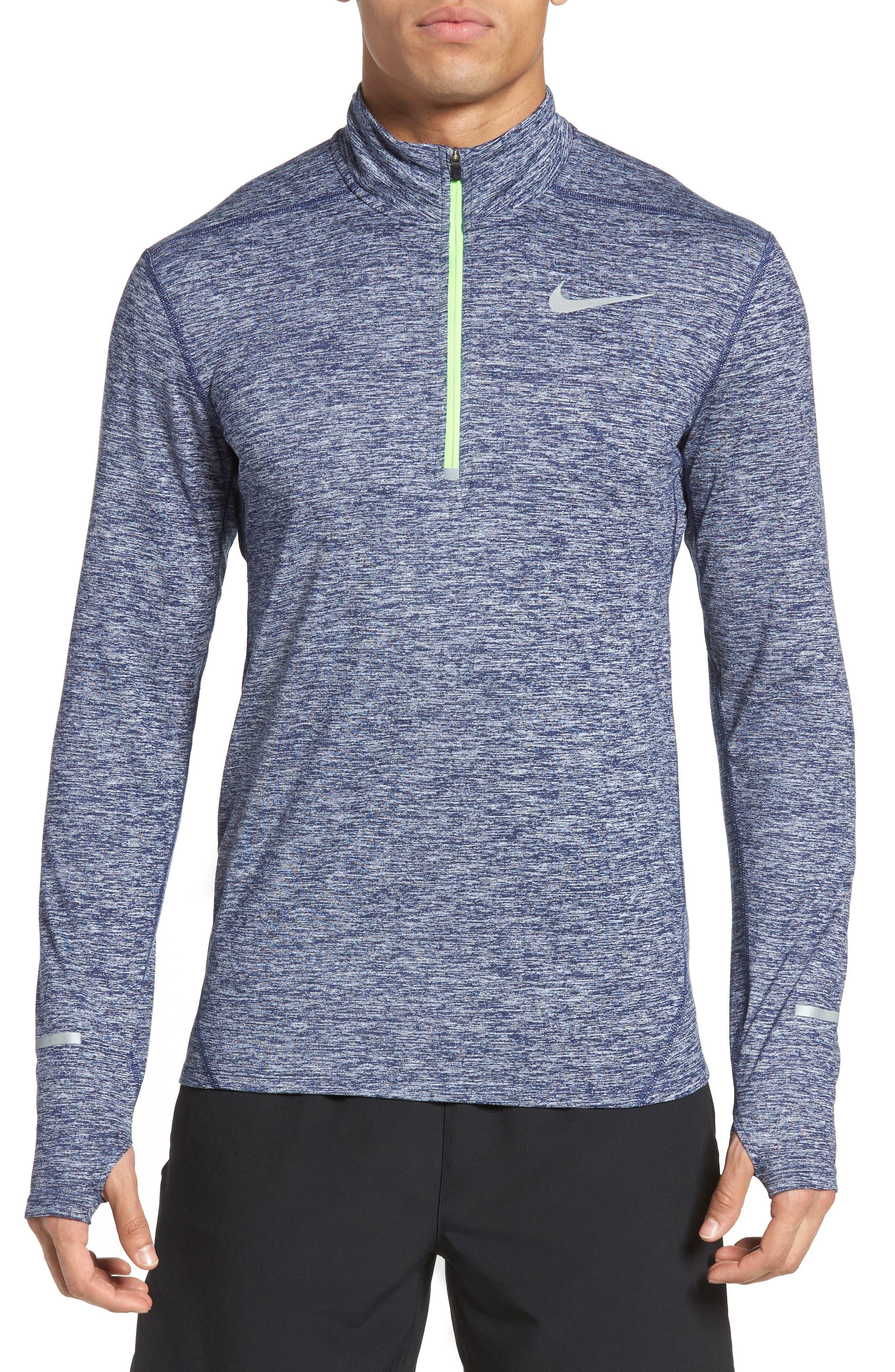 Alternate Image 1 Selected - Nike 'Element' Dri-FIT Quarter Zip Running Top