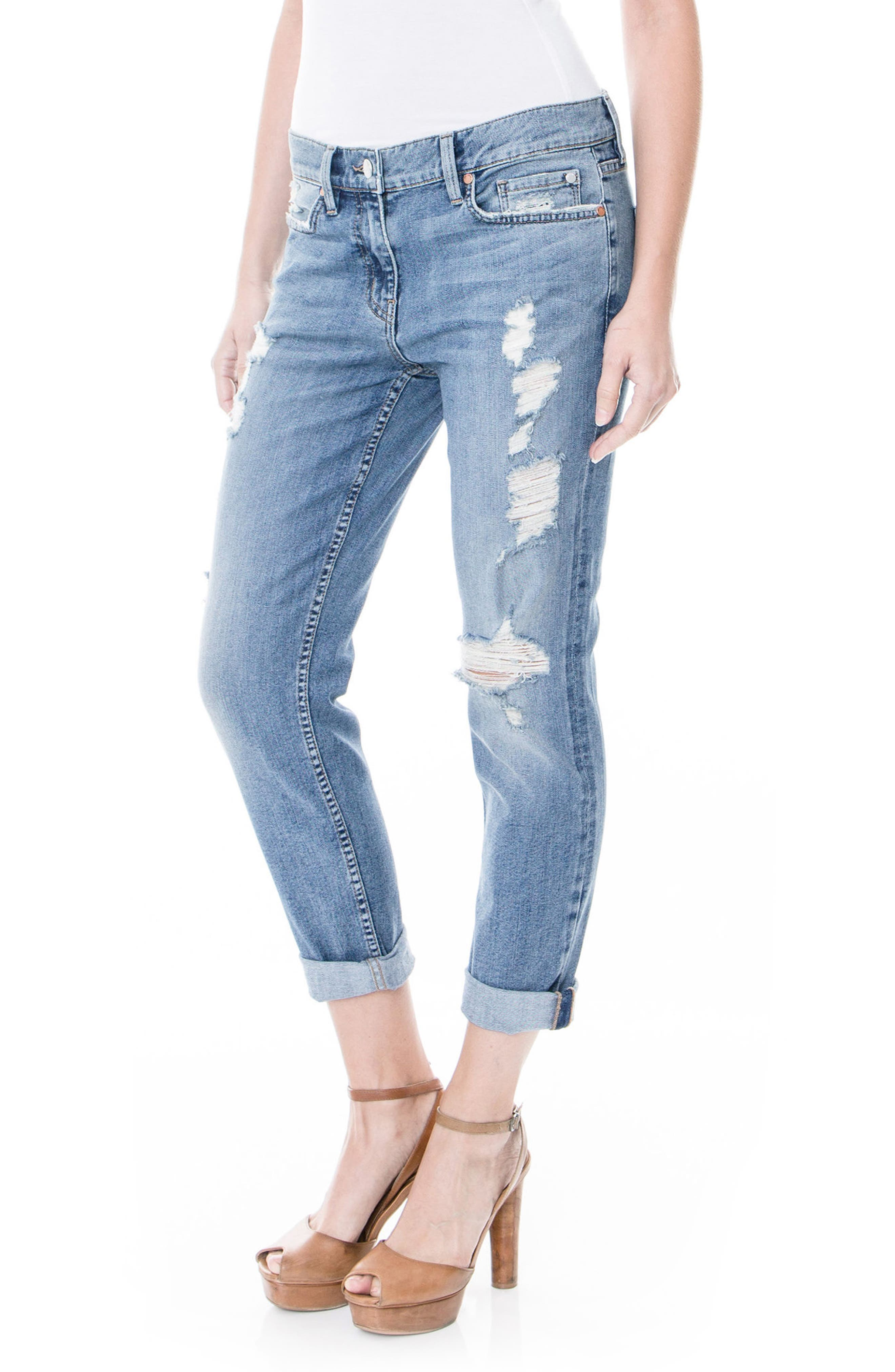 Sienna Stretch Ankle Jeans,                             Alternate thumbnail 3, color,                             Crosby Beach