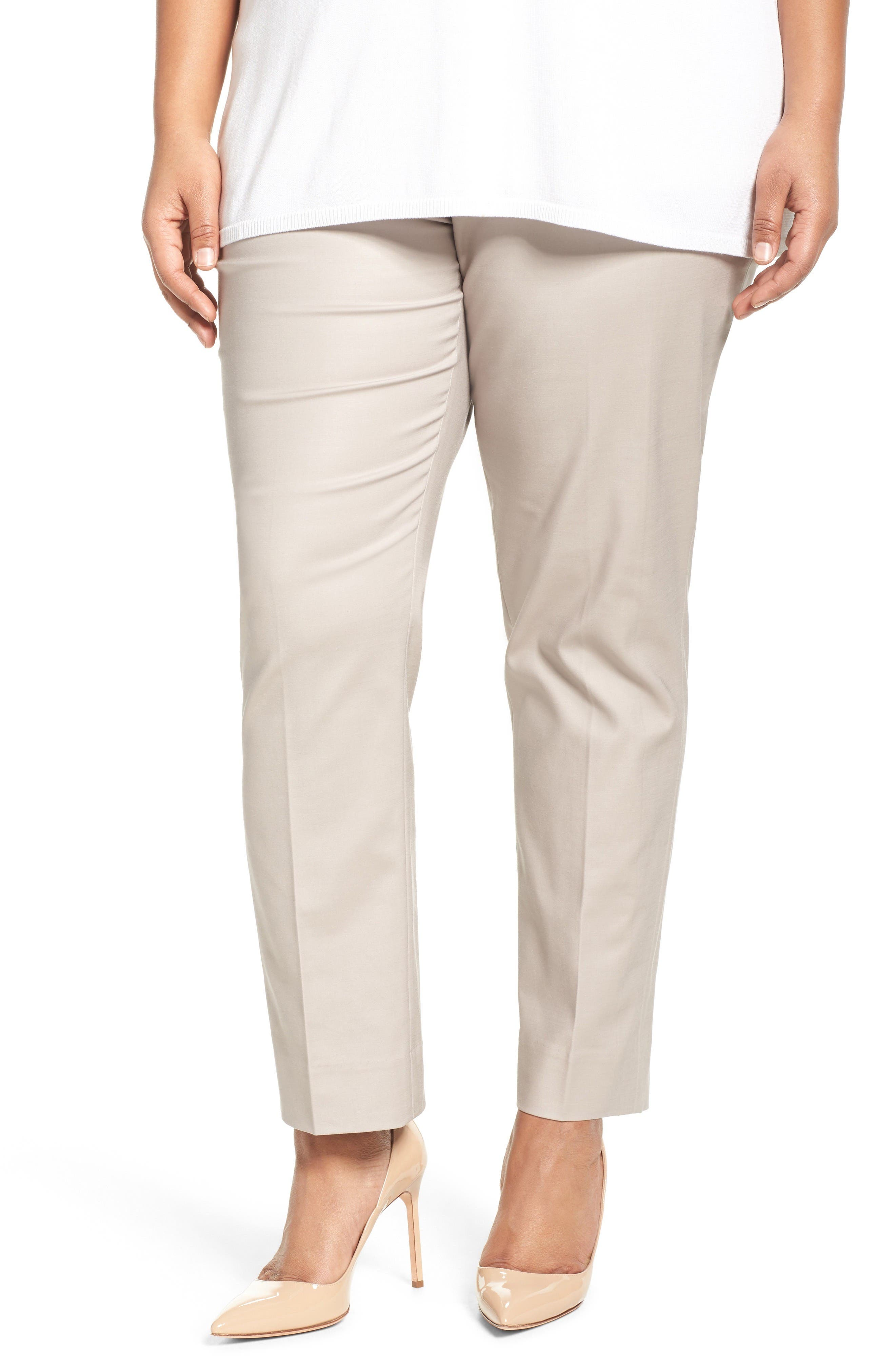 NIC+ZOE Perfect Side Zip Ankle Pants (Plus Size)