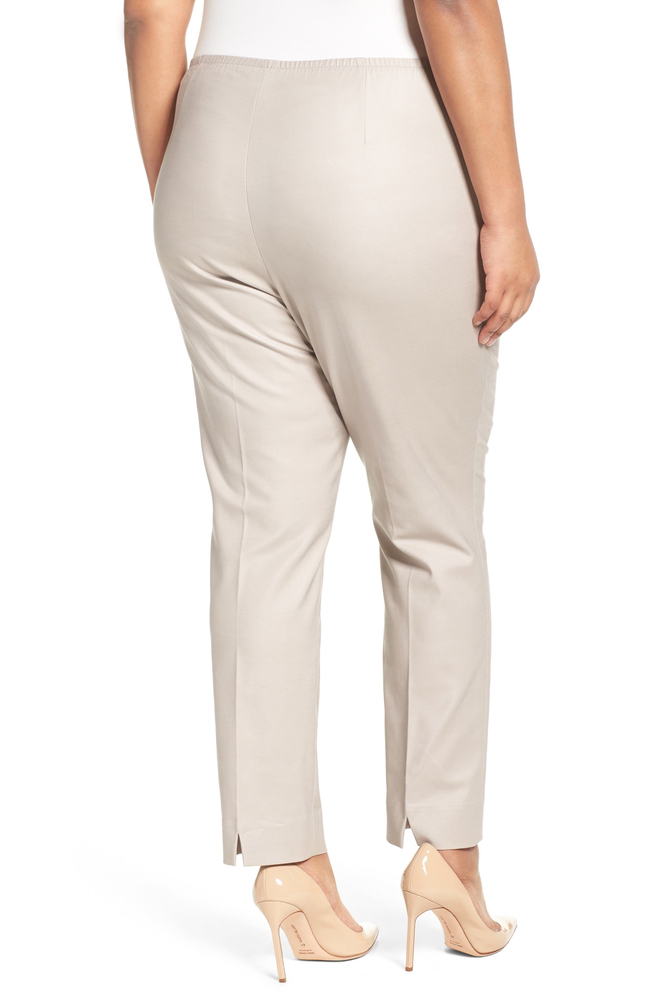 Perfect Side Zip Ankle Pants,                             Alternate thumbnail 2, color,                             French Linen