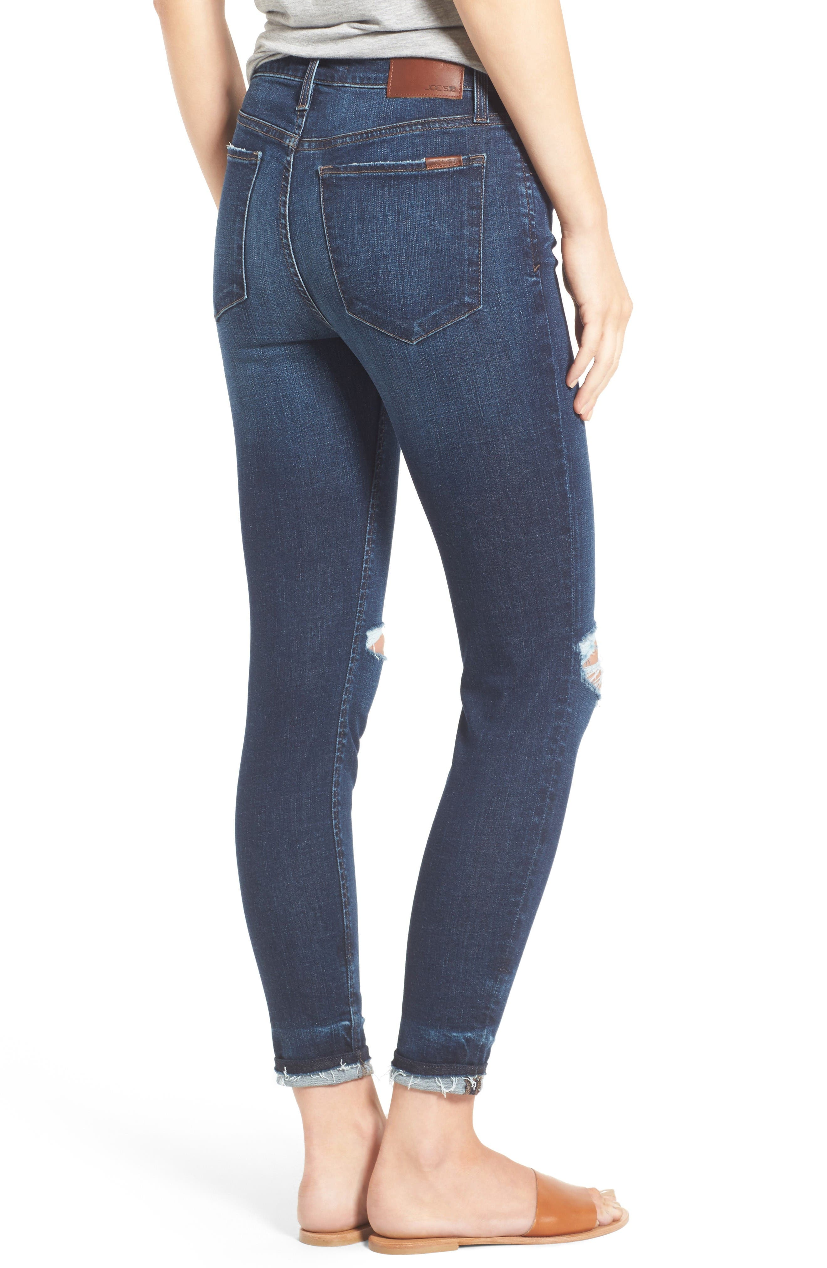 Flawless - Charlie Markie High Rise Crop Skinny Jeans,                             Alternate thumbnail 2, color,                             Kennide