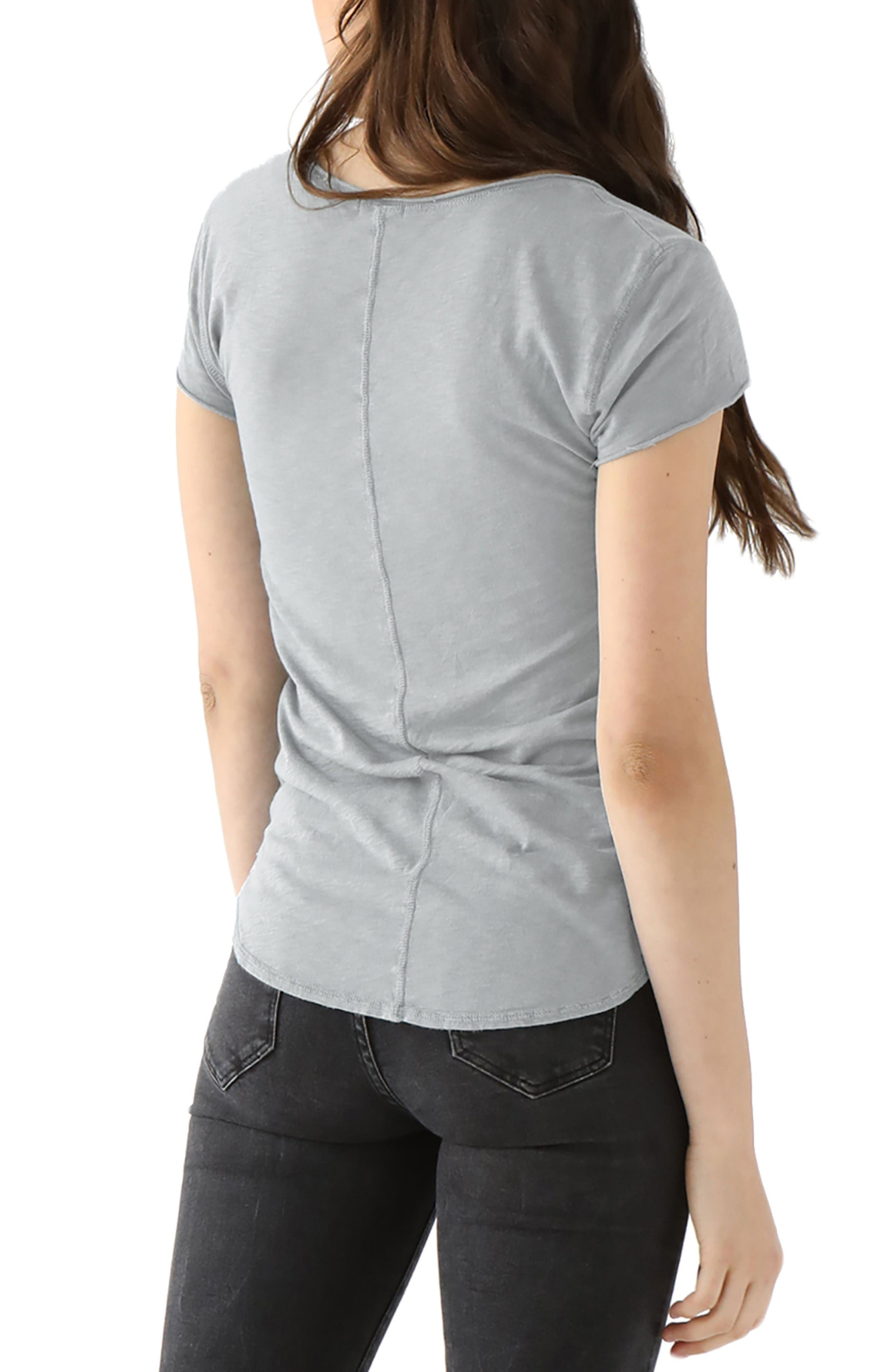 Nikki Slub Jersey Tee,                             Alternate thumbnail 2, color,                             Heather Grey