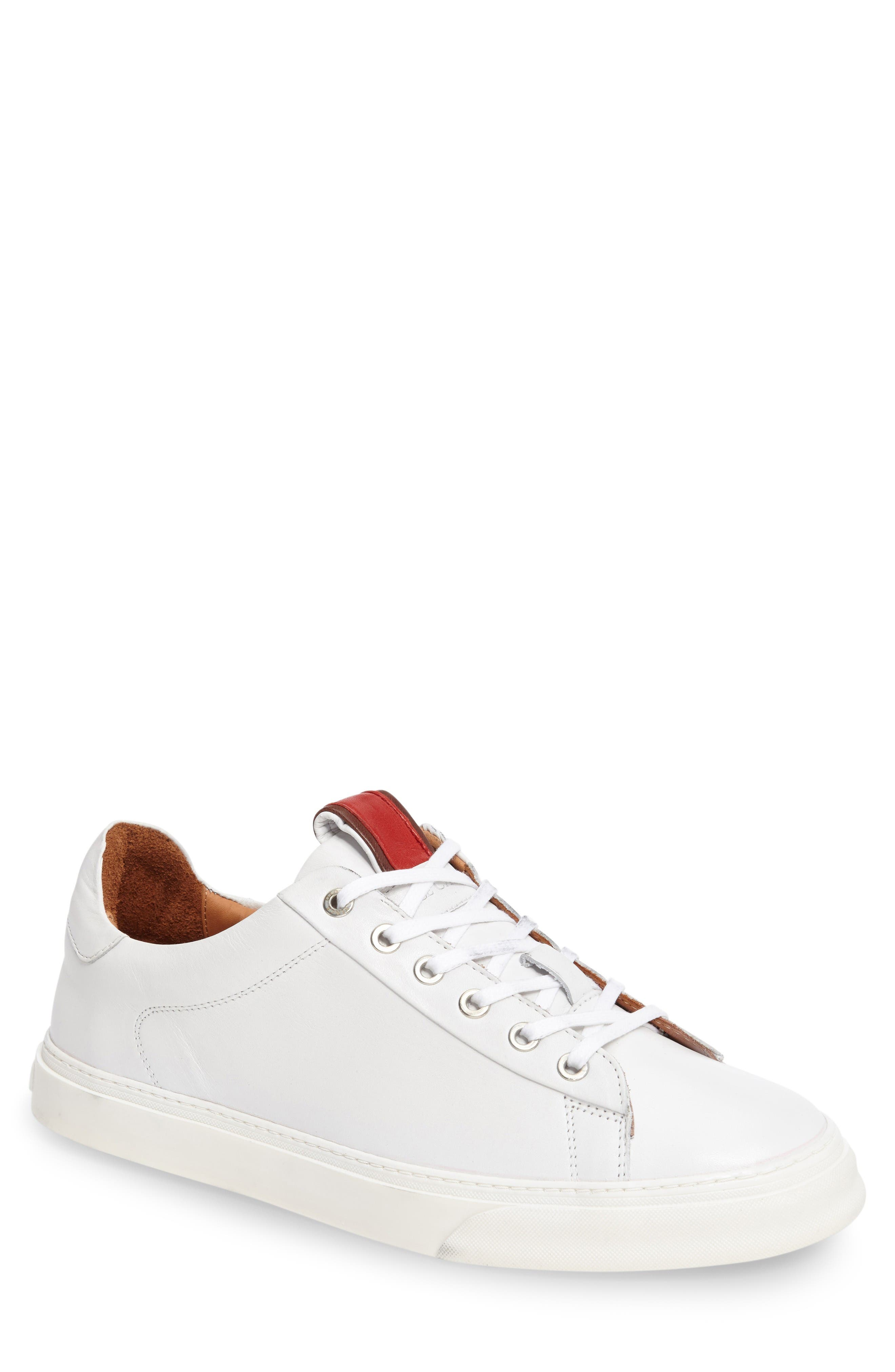 Quin Sneaker,                             Main thumbnail 1, color,                             White Leather