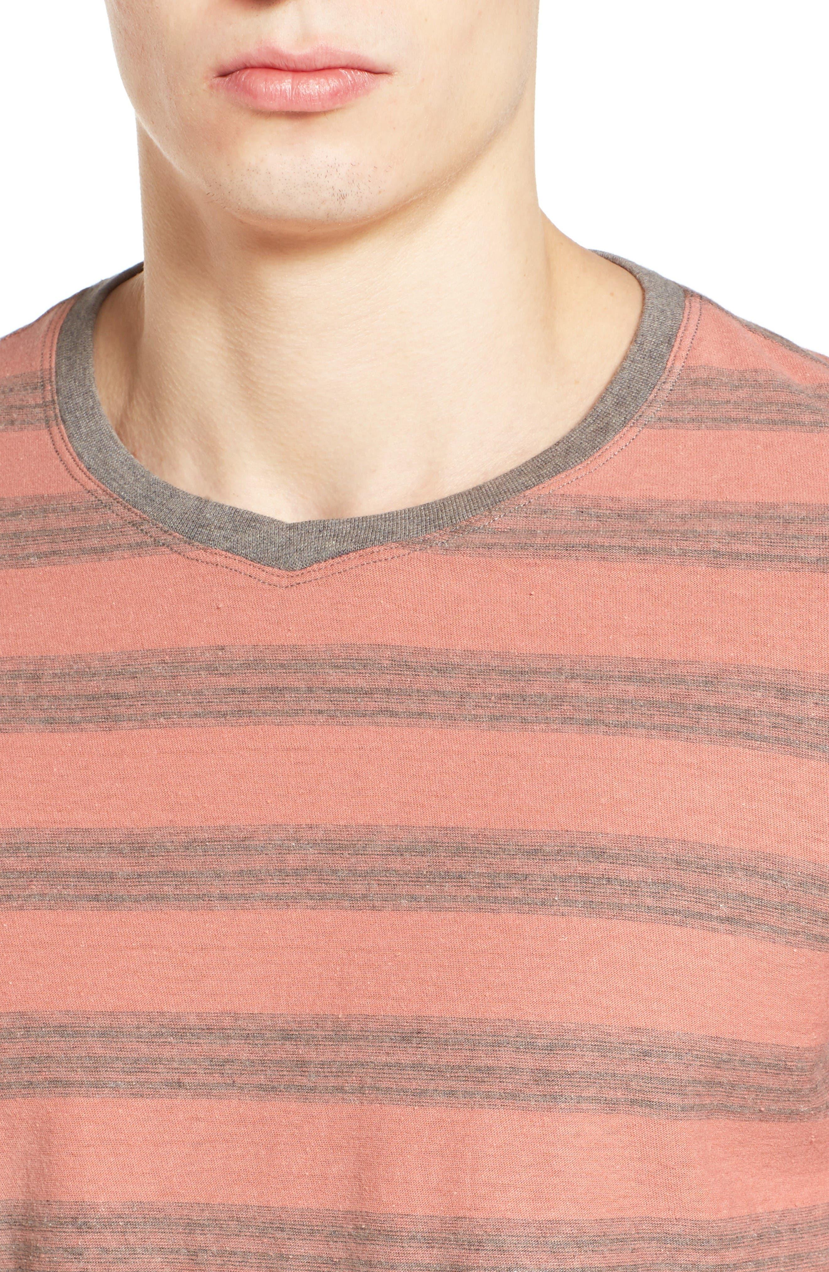 Alternate Image 4  - Jeremiah Ventura Stripe Linen & Cotton T-Shirt