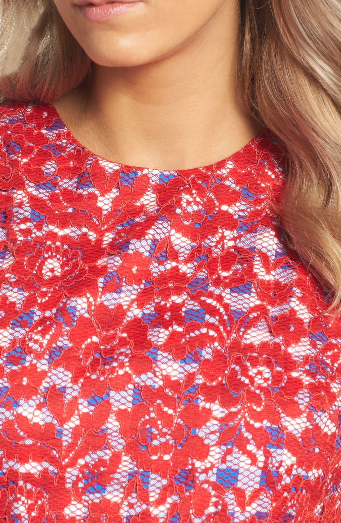 Alternate Image 4  - Maggy London Lace Midi Dress