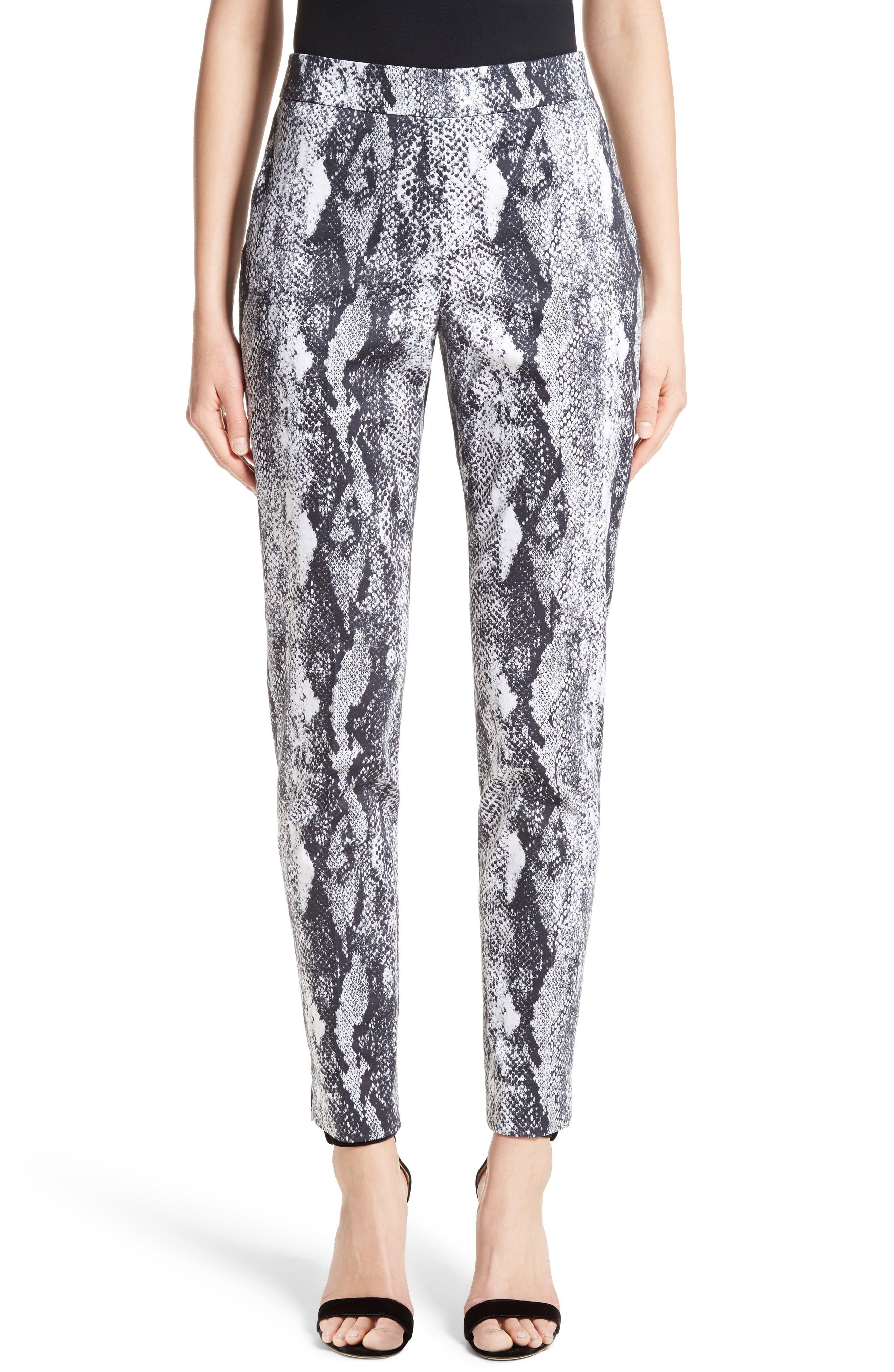 Emma Raja Snakeskin Print Pants,                         Main,                         color, Mica Multi