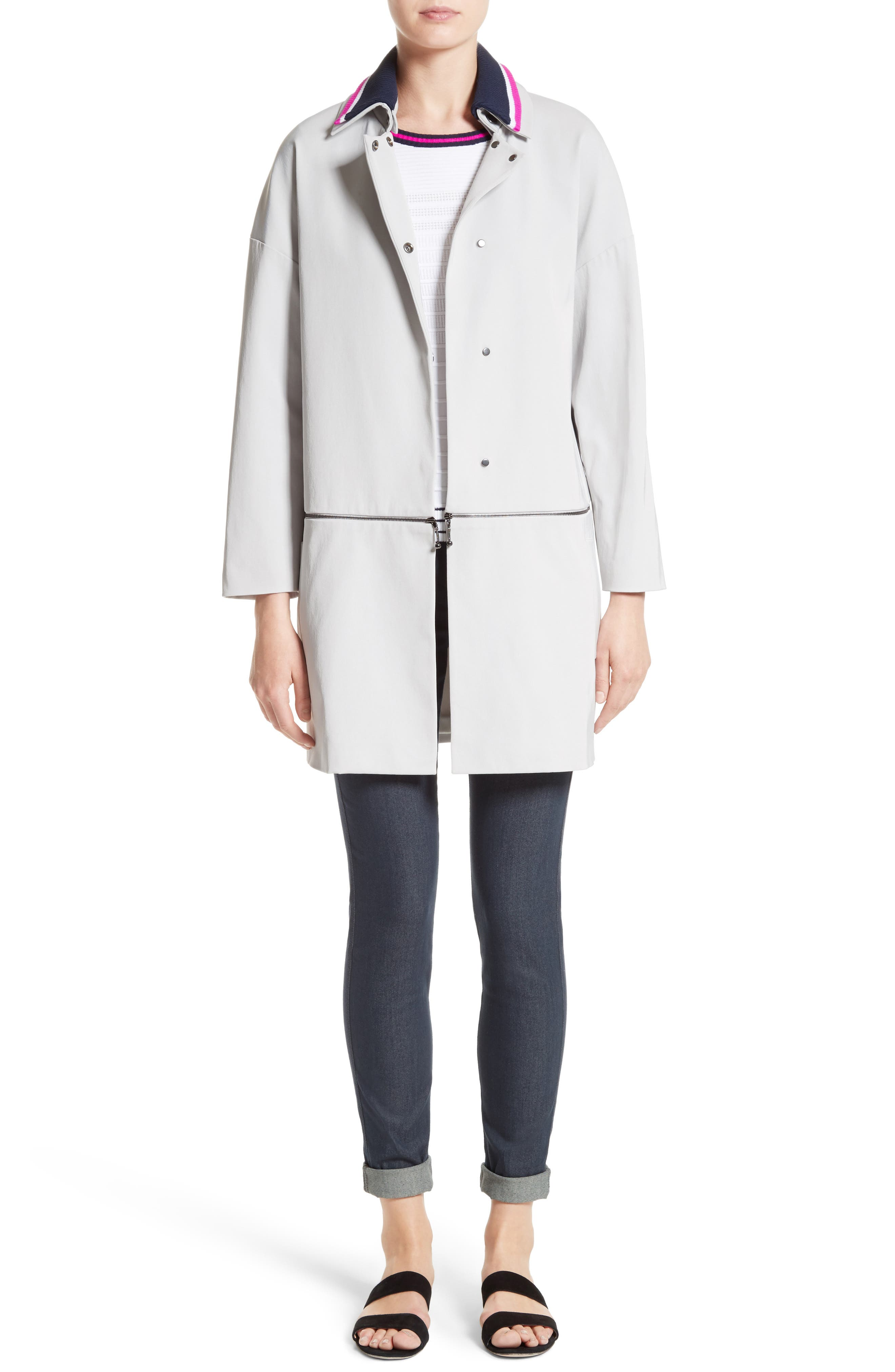 Alternate Image 8  - St. John Collection Stretch Twill Convertible Coat