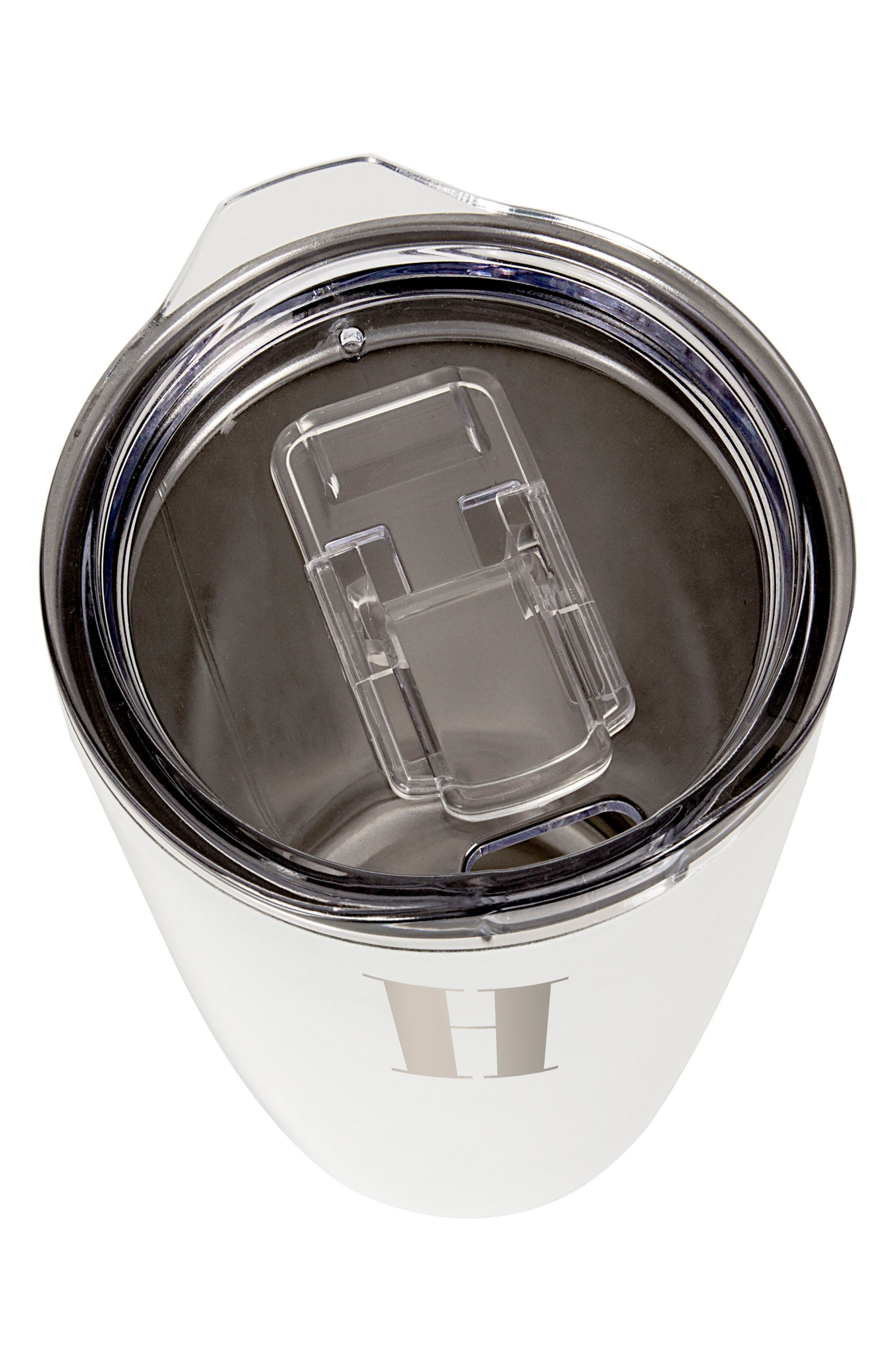 Alternate Image 2  - Cathy's Concepts Monogram Stainless Steel Tumbler