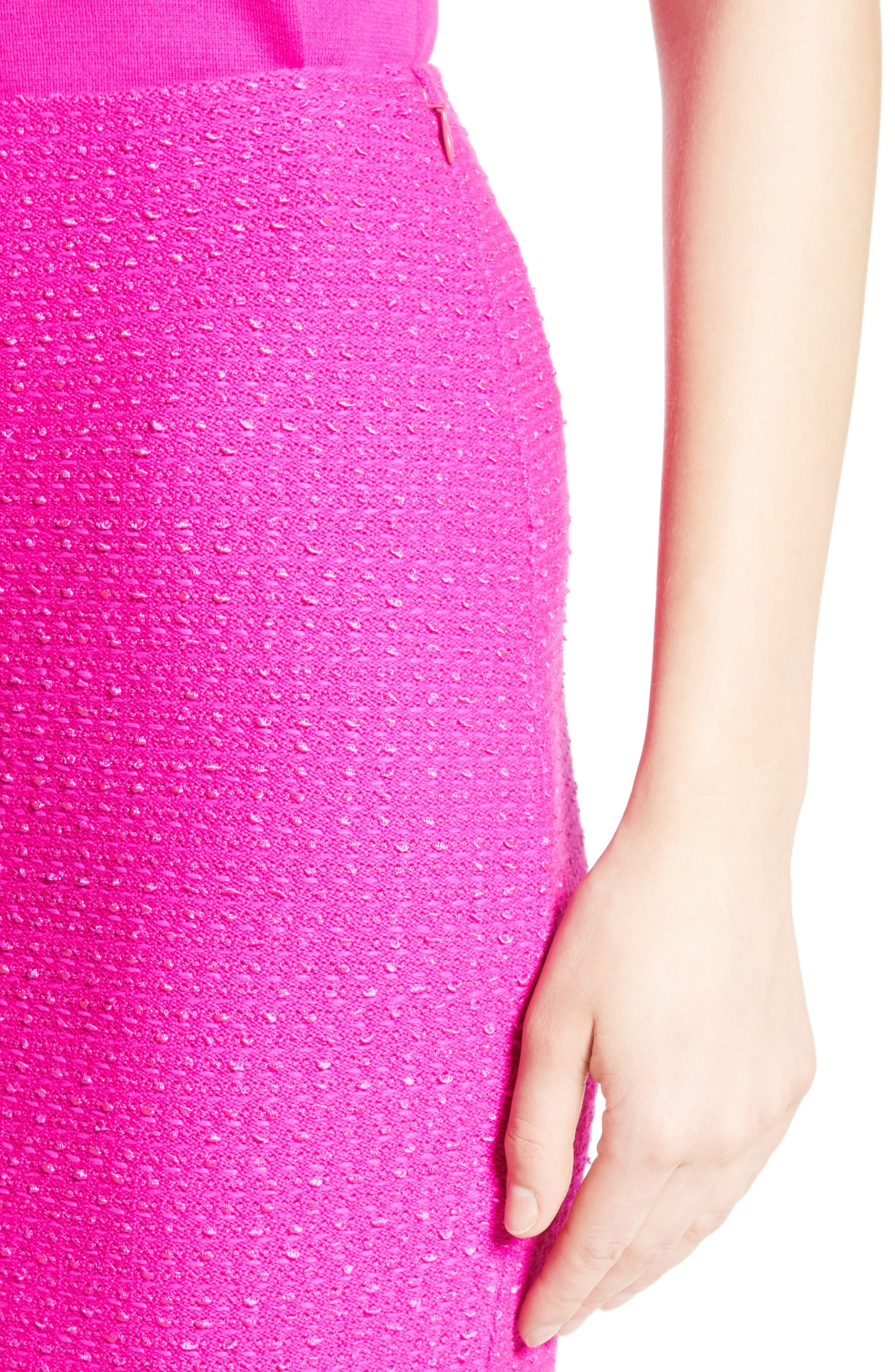 Alternate Image 4  - St. John Collection Ribbon Texture Knit Skirt