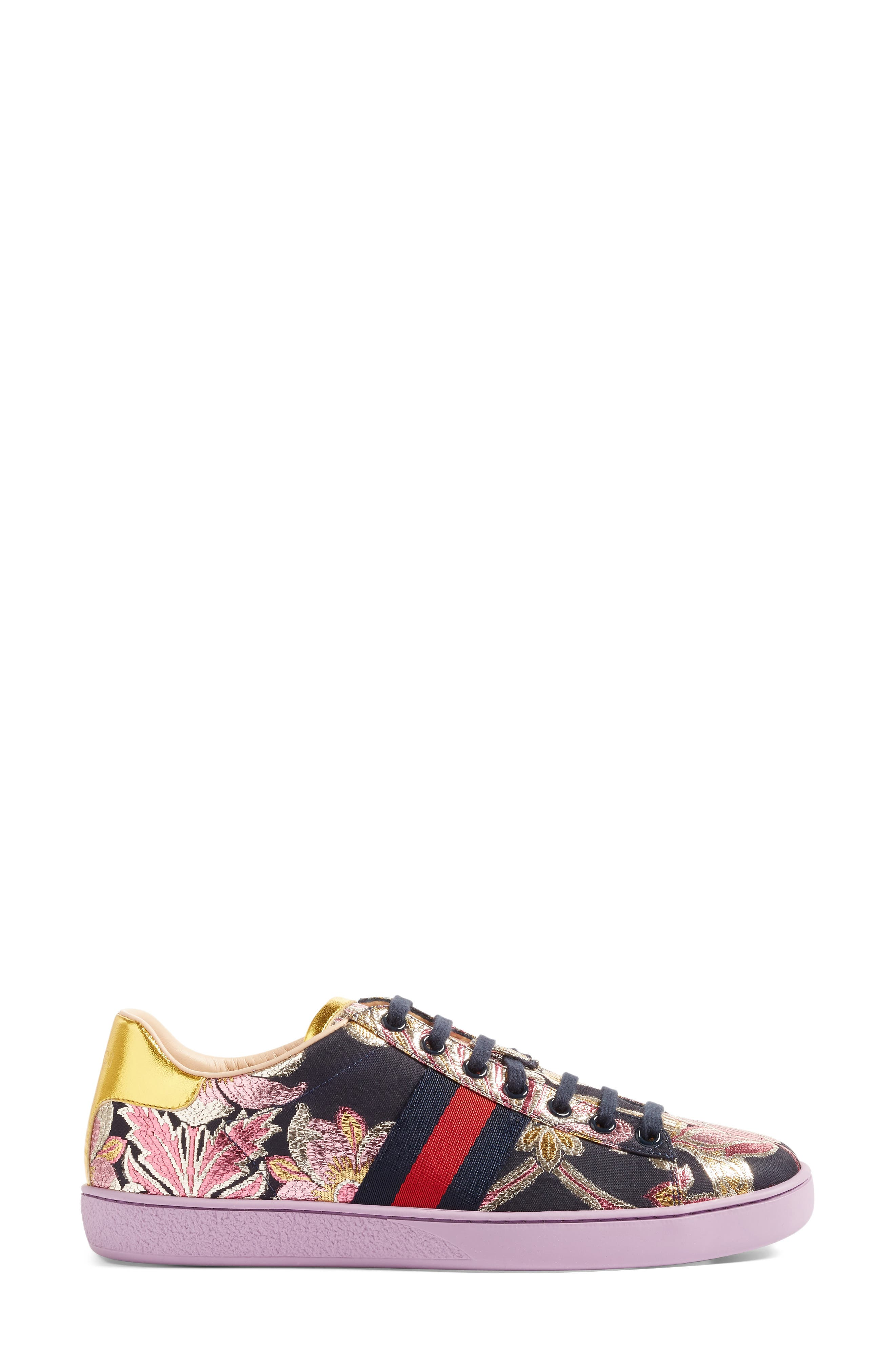 Alternate Image 4  - Gucci New Ace Floral Sneaker (Women)