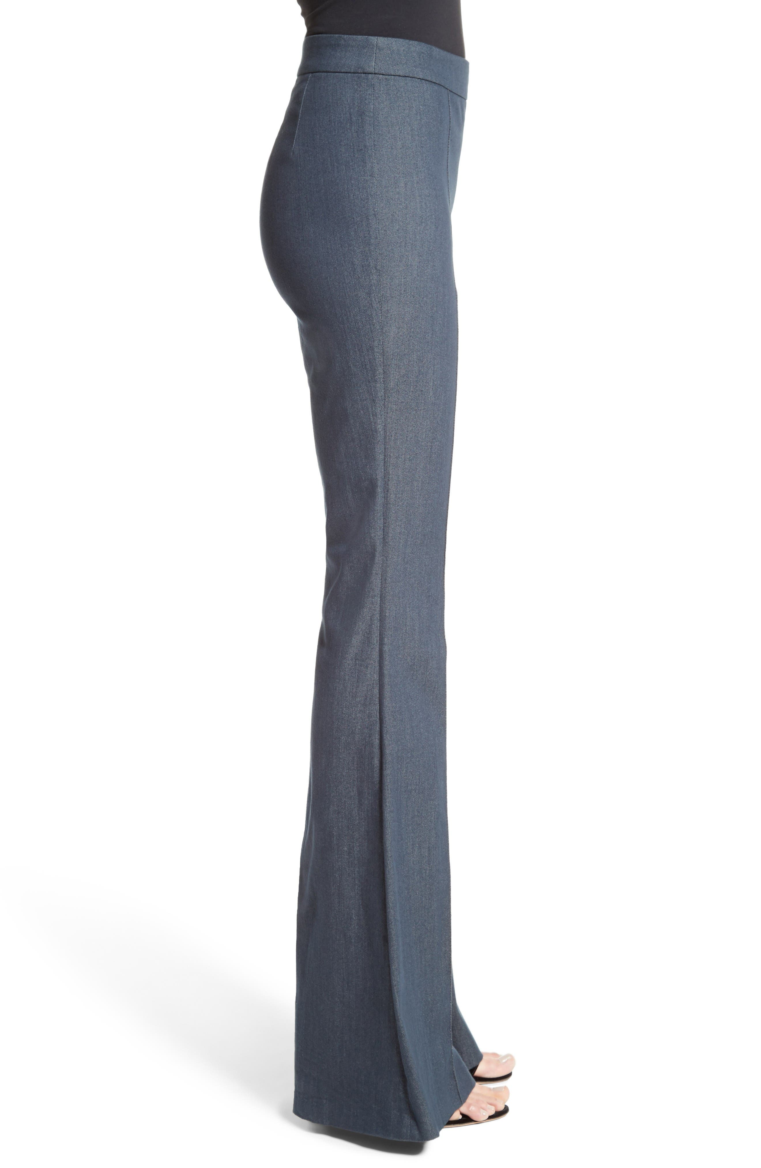 Alternate Image 3  - St. John Collection Stretch Denim Flare Pants