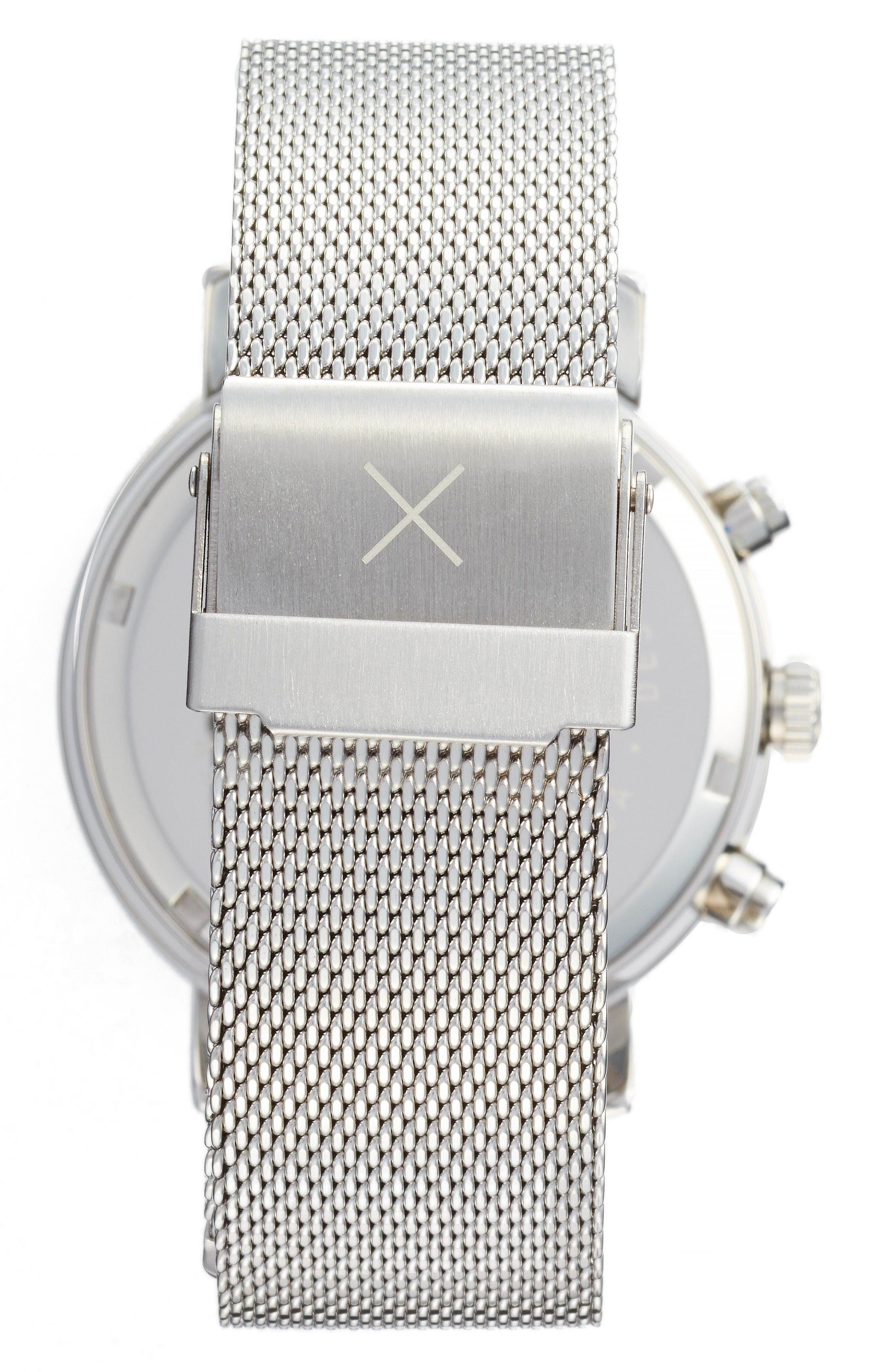 Alternate Image 2  - Throne 2.0 Chronograph Mesh Strap Watch, 40mm
