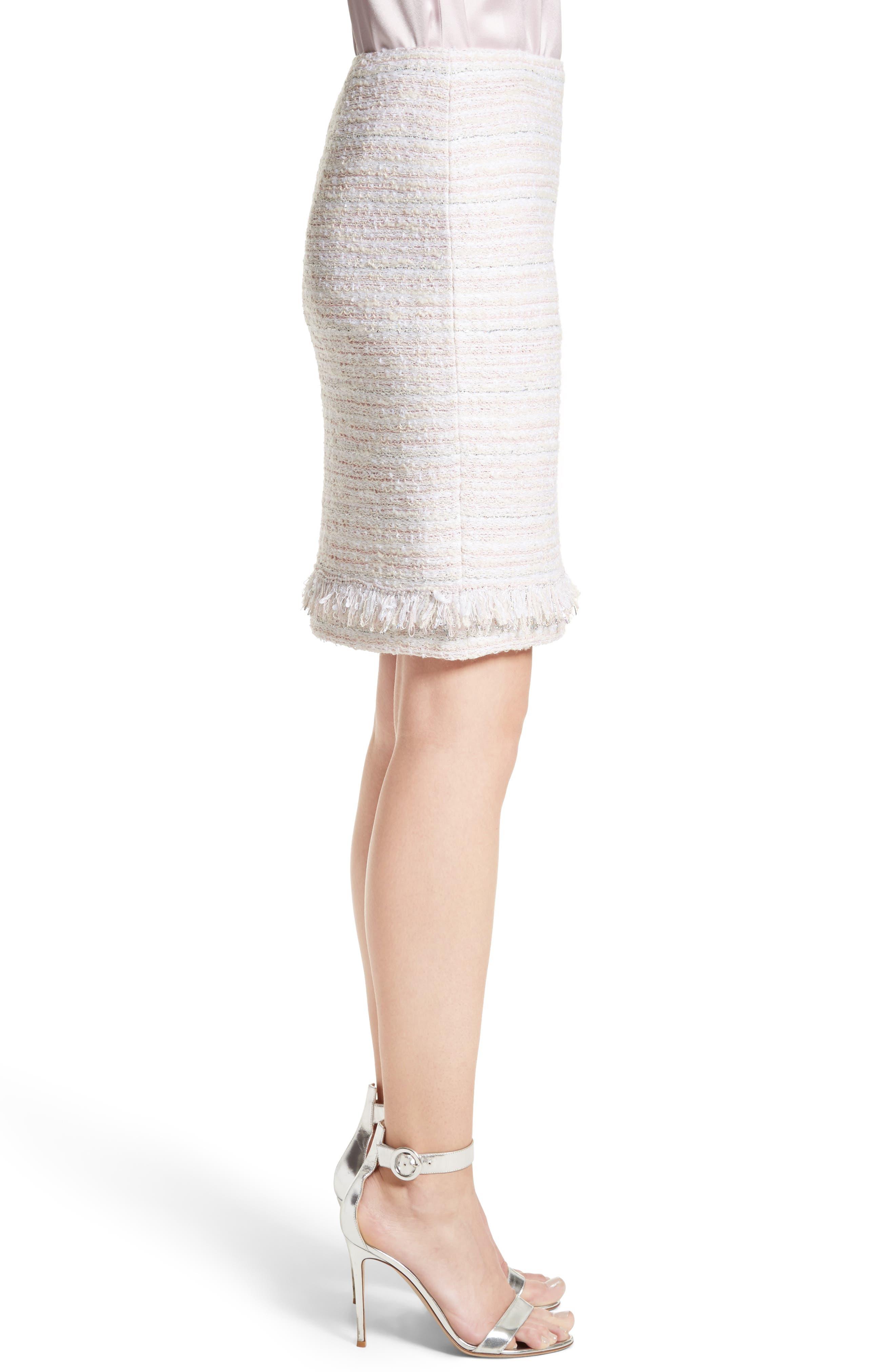 Padmesh Tweed Knit Skirt,                             Alternate thumbnail 3, color,                             Petal Multi