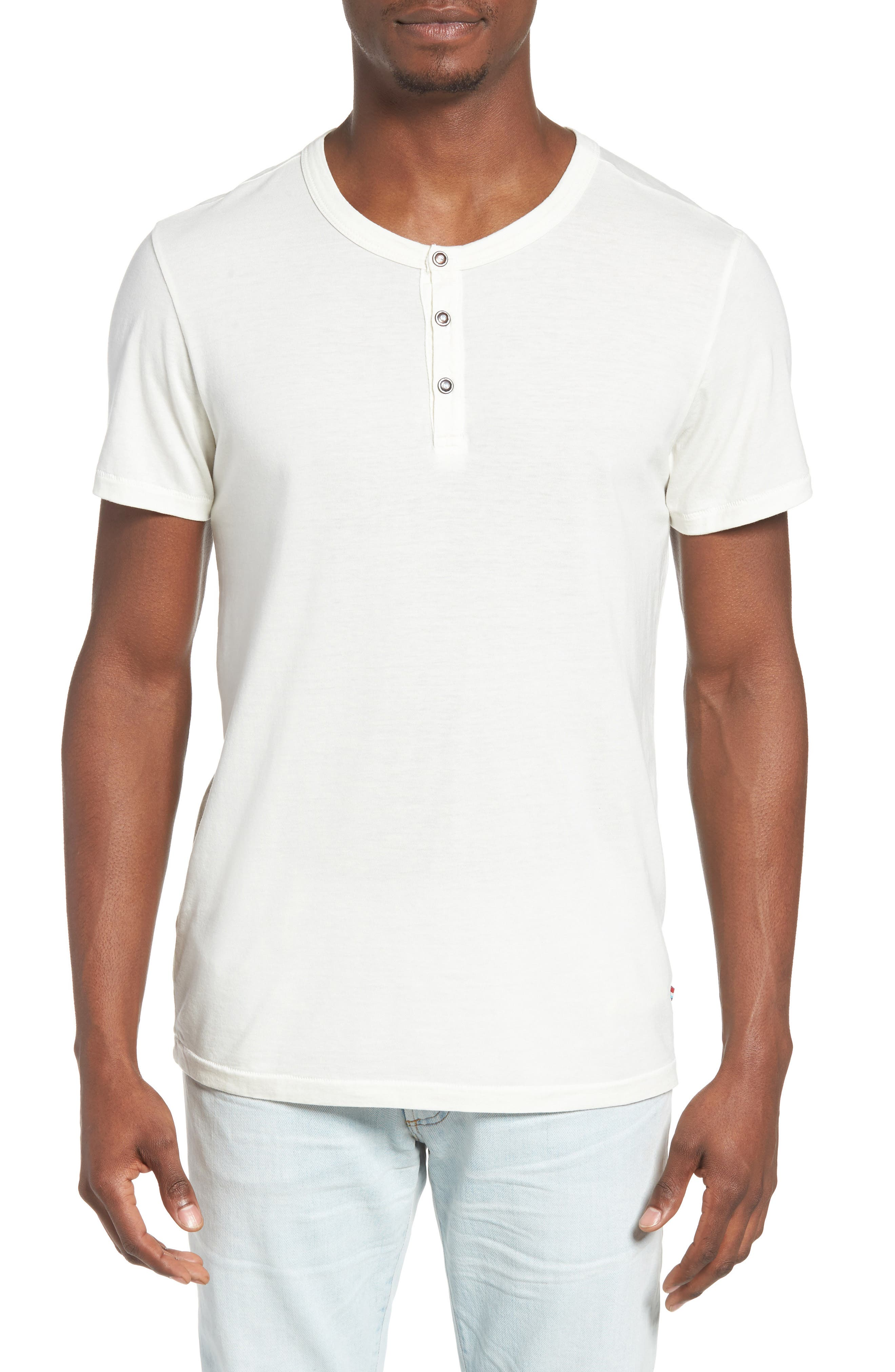 Essential Henley,                         Main,                         color, D White