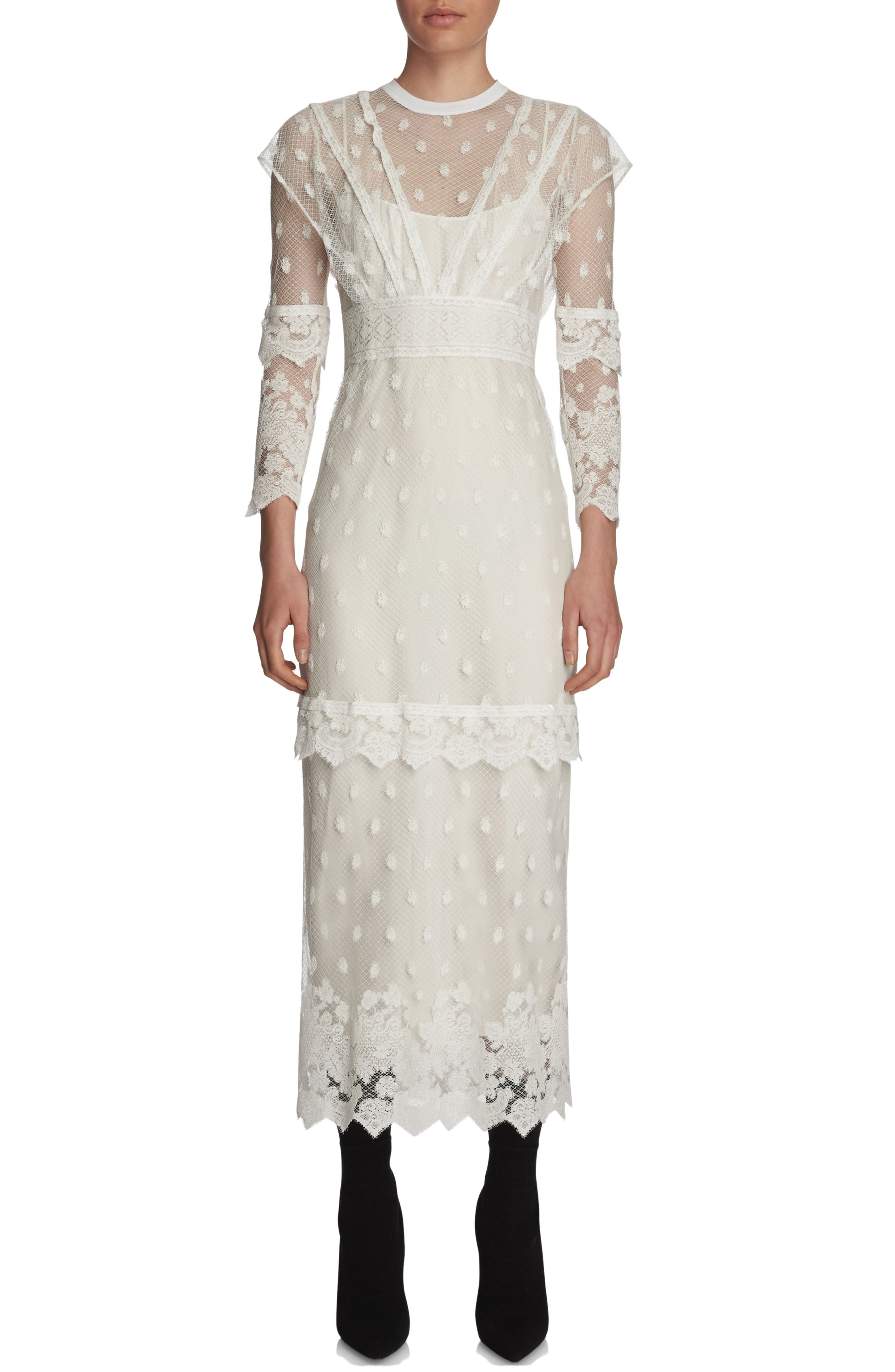 Alternate Image 1 Selected - Burberry Lace Midi Dress