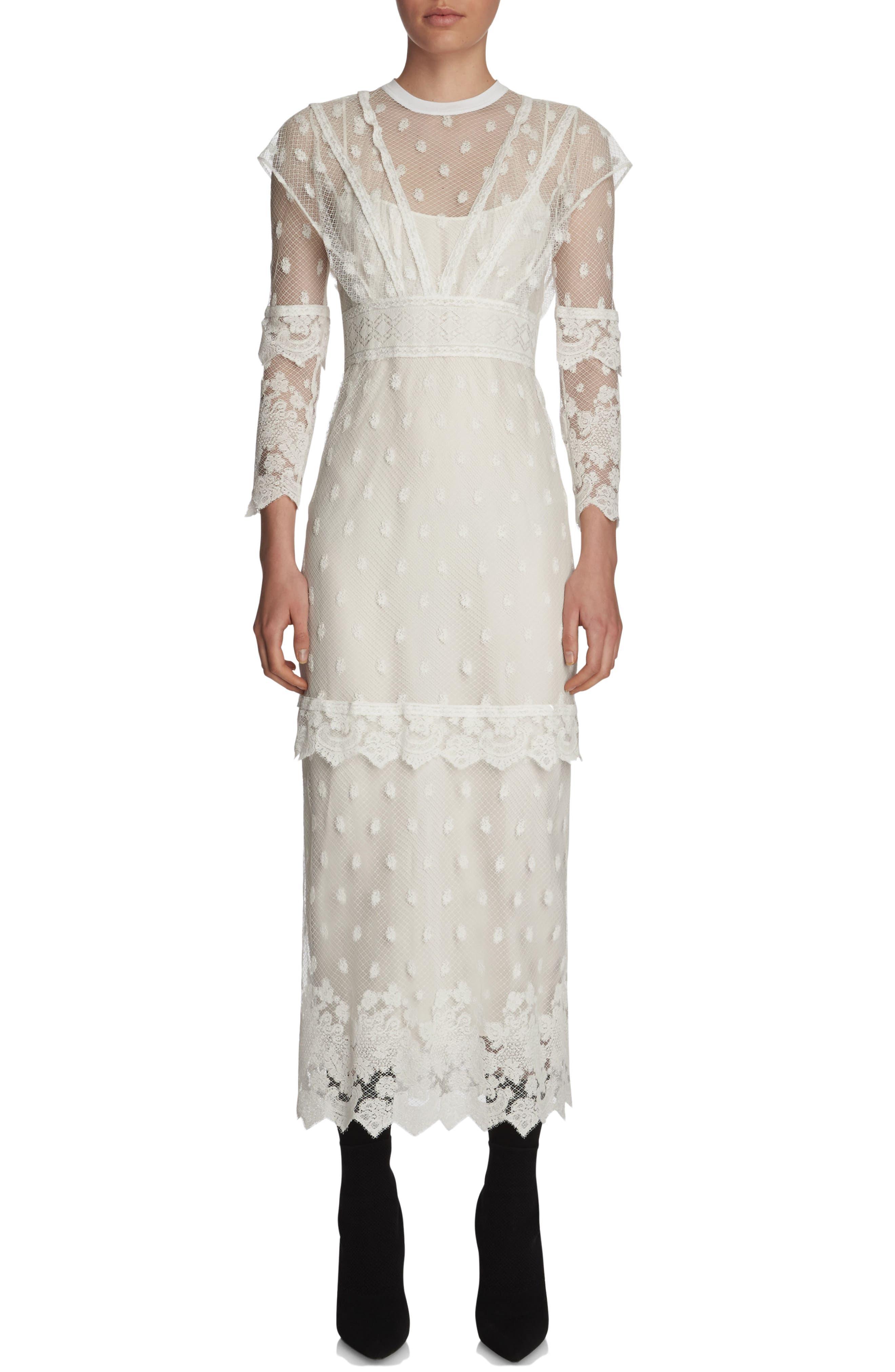 Main Image - Burberry Lace Midi Dress