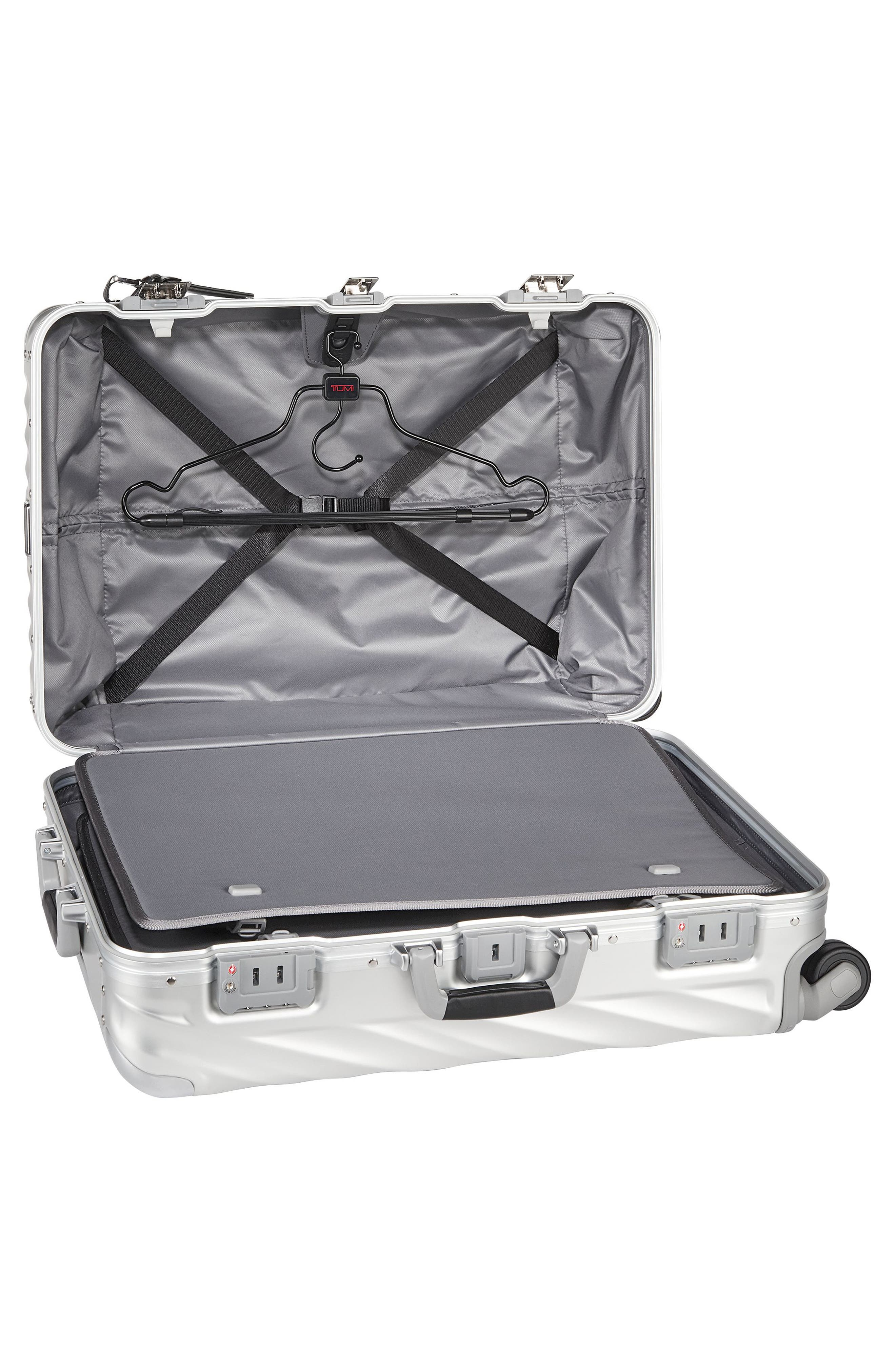 19-Degree Collection Wheeled Aluminum Short Trip Packing Case,                             Alternate thumbnail 3, color,                             Silver