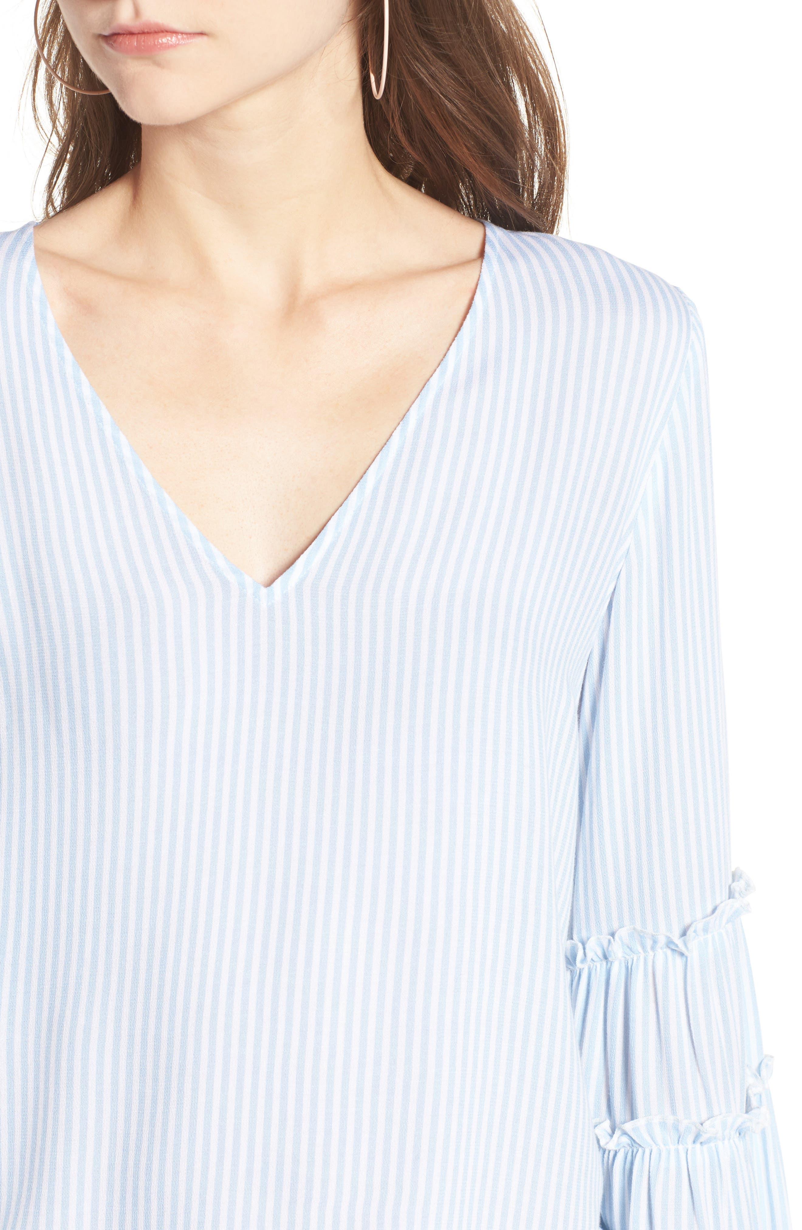Alternate Image 4  - BP. Stripe Bell Sleeve Blouse