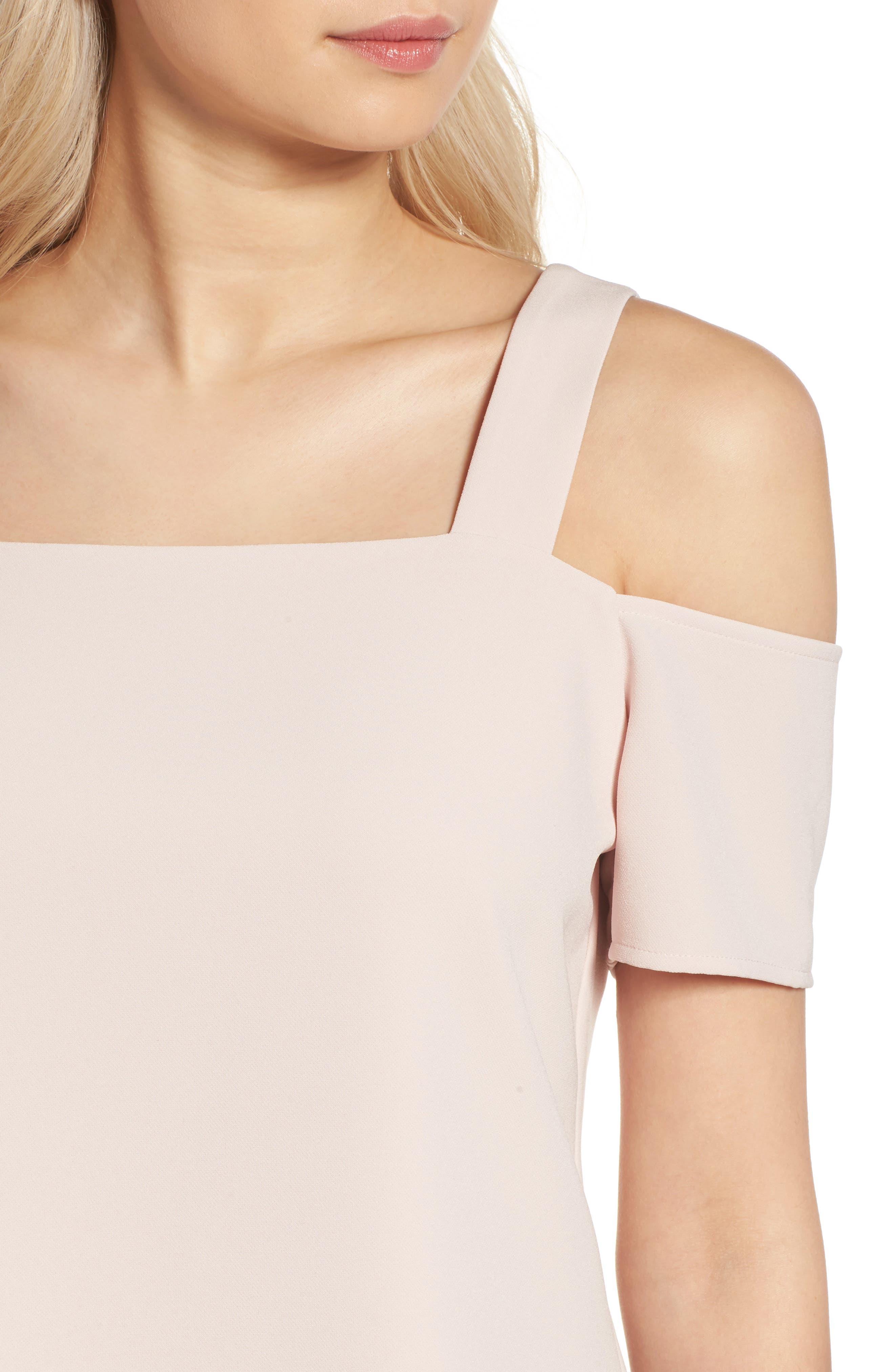 Ava Cold Shoulder Top,                             Alternate thumbnail 4, color,                             Pale Pink