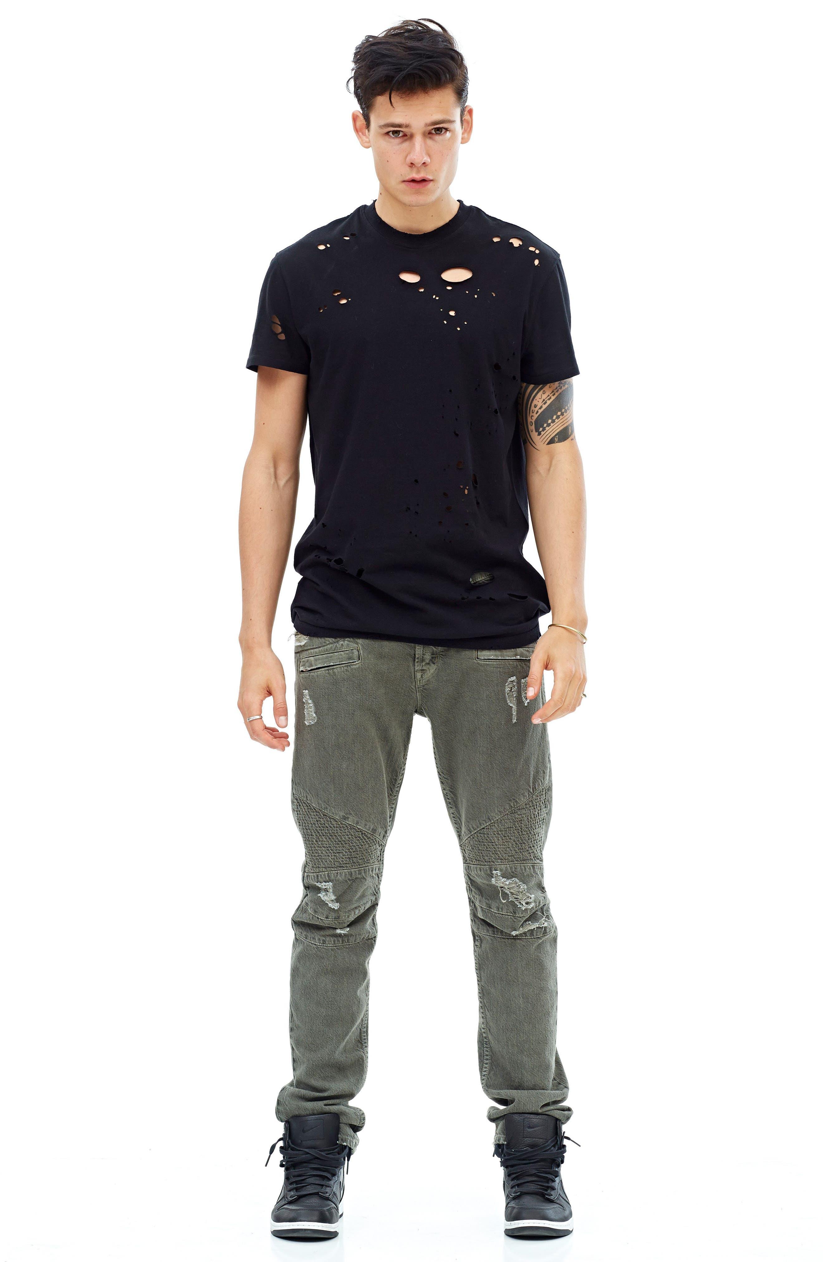 Blinder Biker Skinny Fit Jeans,                             Alternate thumbnail 6, color,                             Fortitude Green