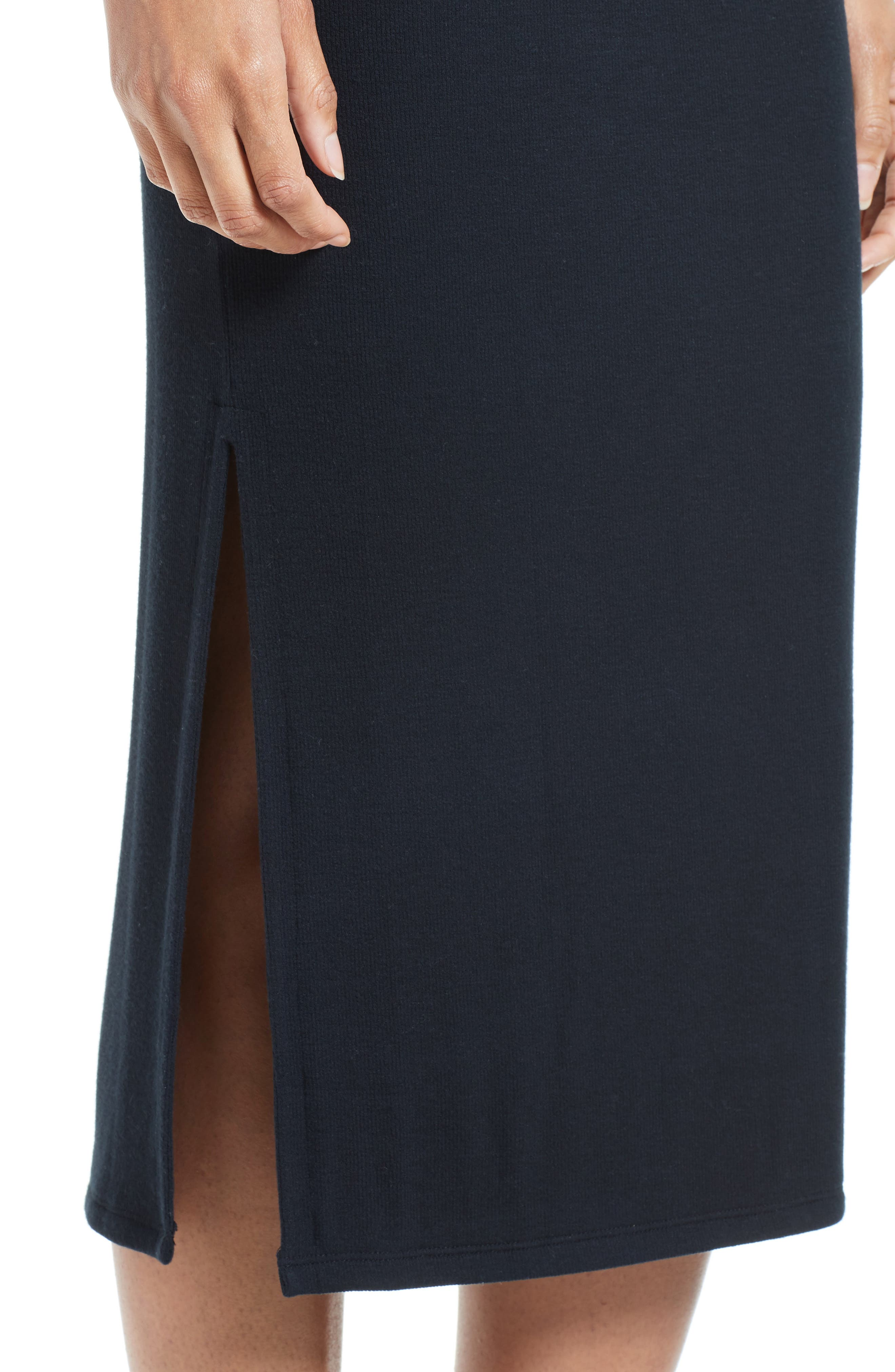 Side Slit Tube Skirt,                             Alternate thumbnail 5, color,                             Black