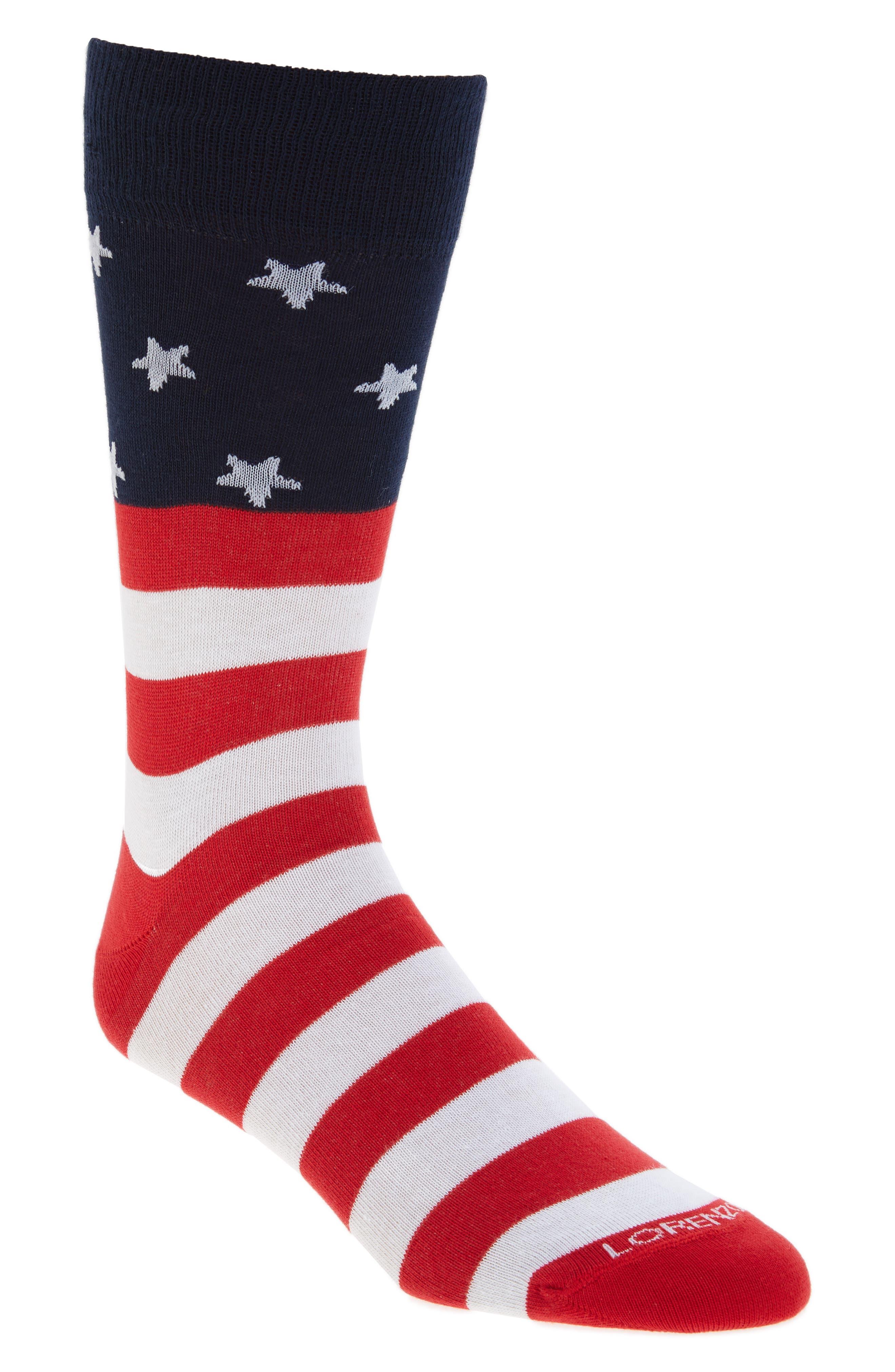 Americana Crew Socks,                         Main,                         color, Stars And Stripes