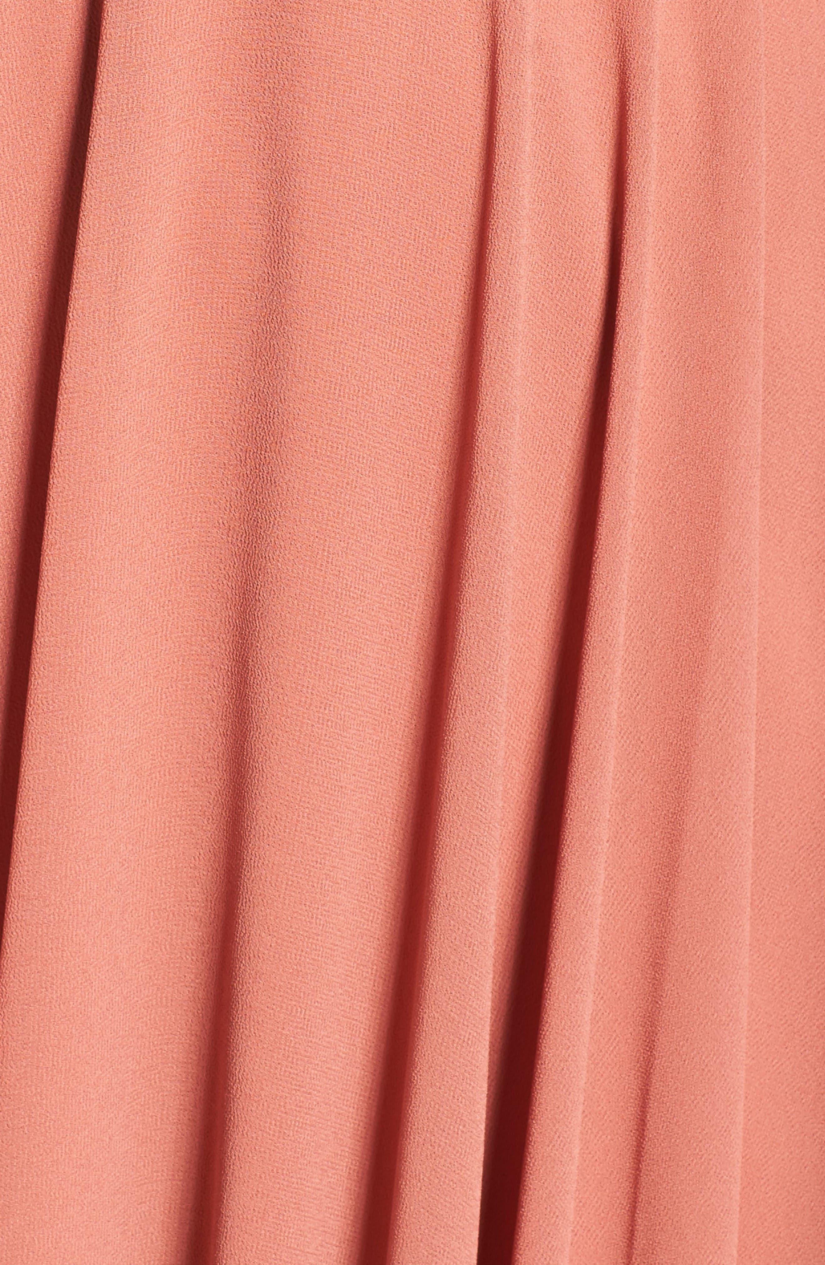 Alternate Image 5  - Lulus Flutter Sleeve Chiffon Gown
