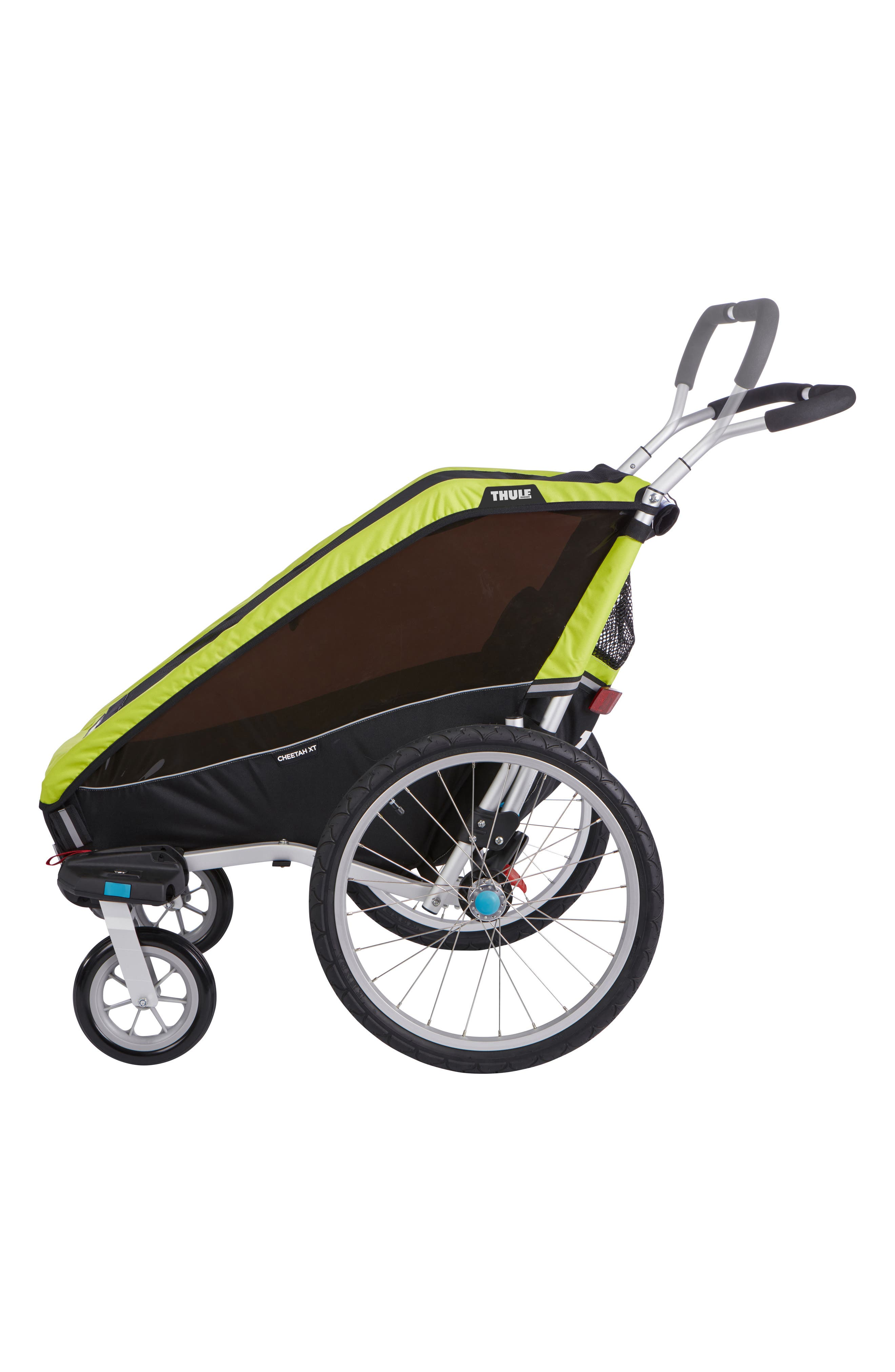 Chariot Cheetah XT 2 Multisport Cycle Trailer/Stroller,                             Alternate thumbnail 3, color,                             Chartreuse