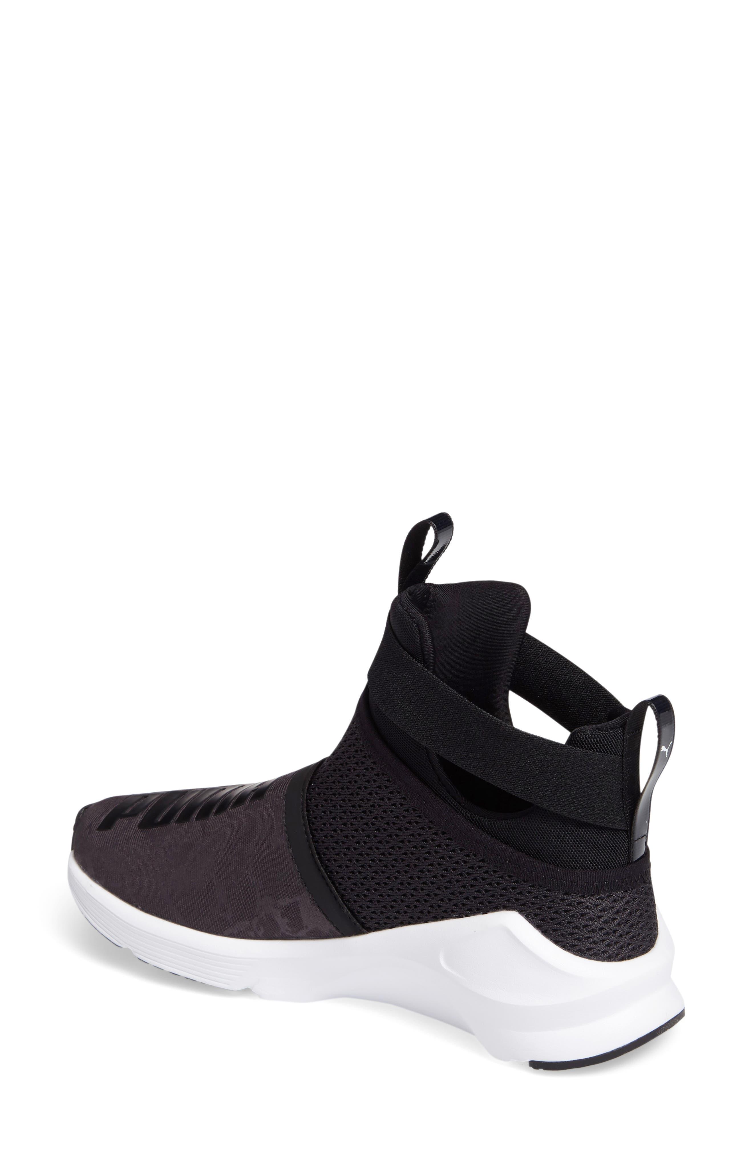 Fierce Strap Training Sneaker,                             Alternate thumbnail 2, color,                             Black/ White