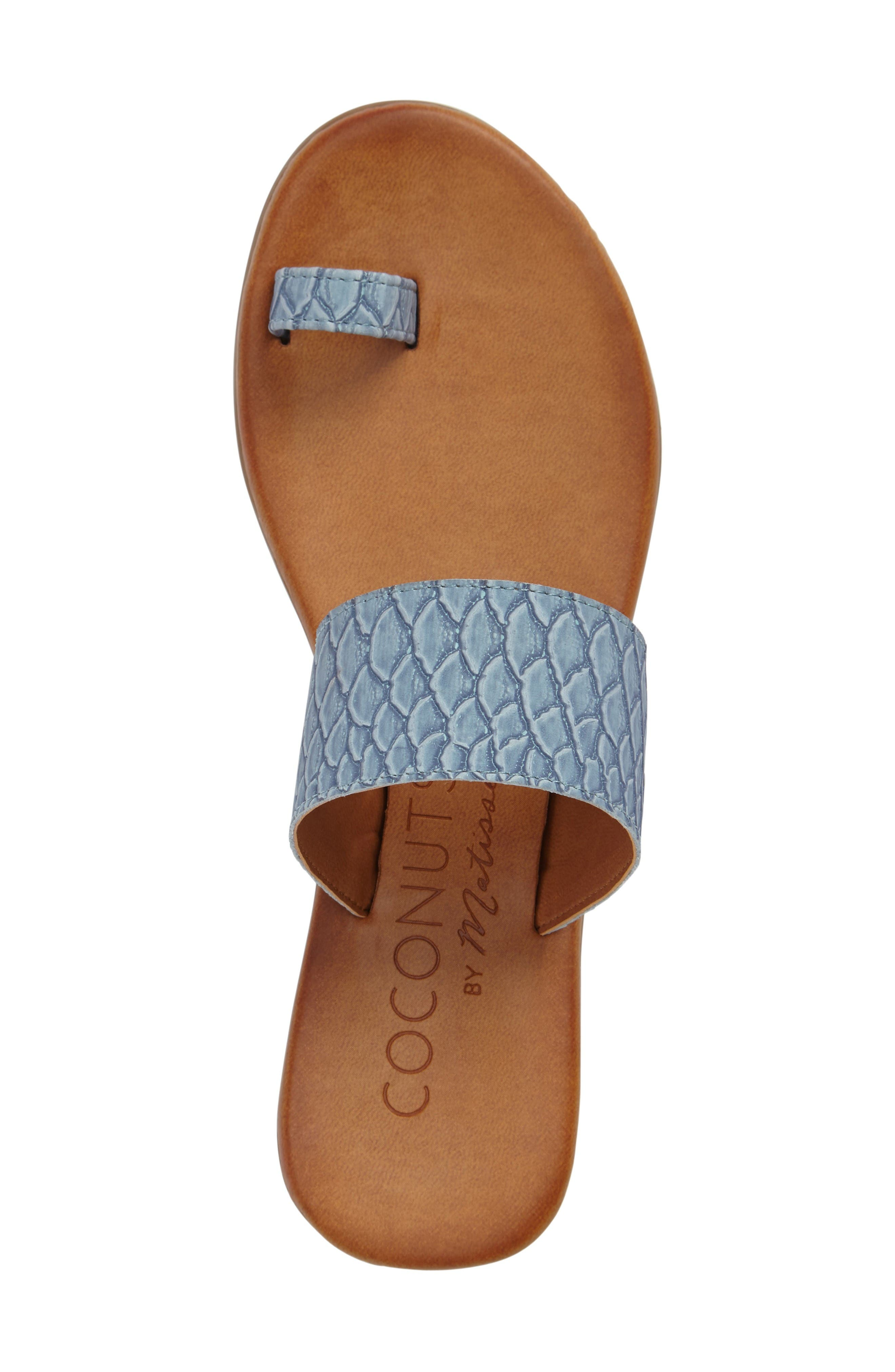 Coconuts by Matisse Freddie Slide Sandal,                             Alternate thumbnail 3, color,                             Dusty Blue Leather