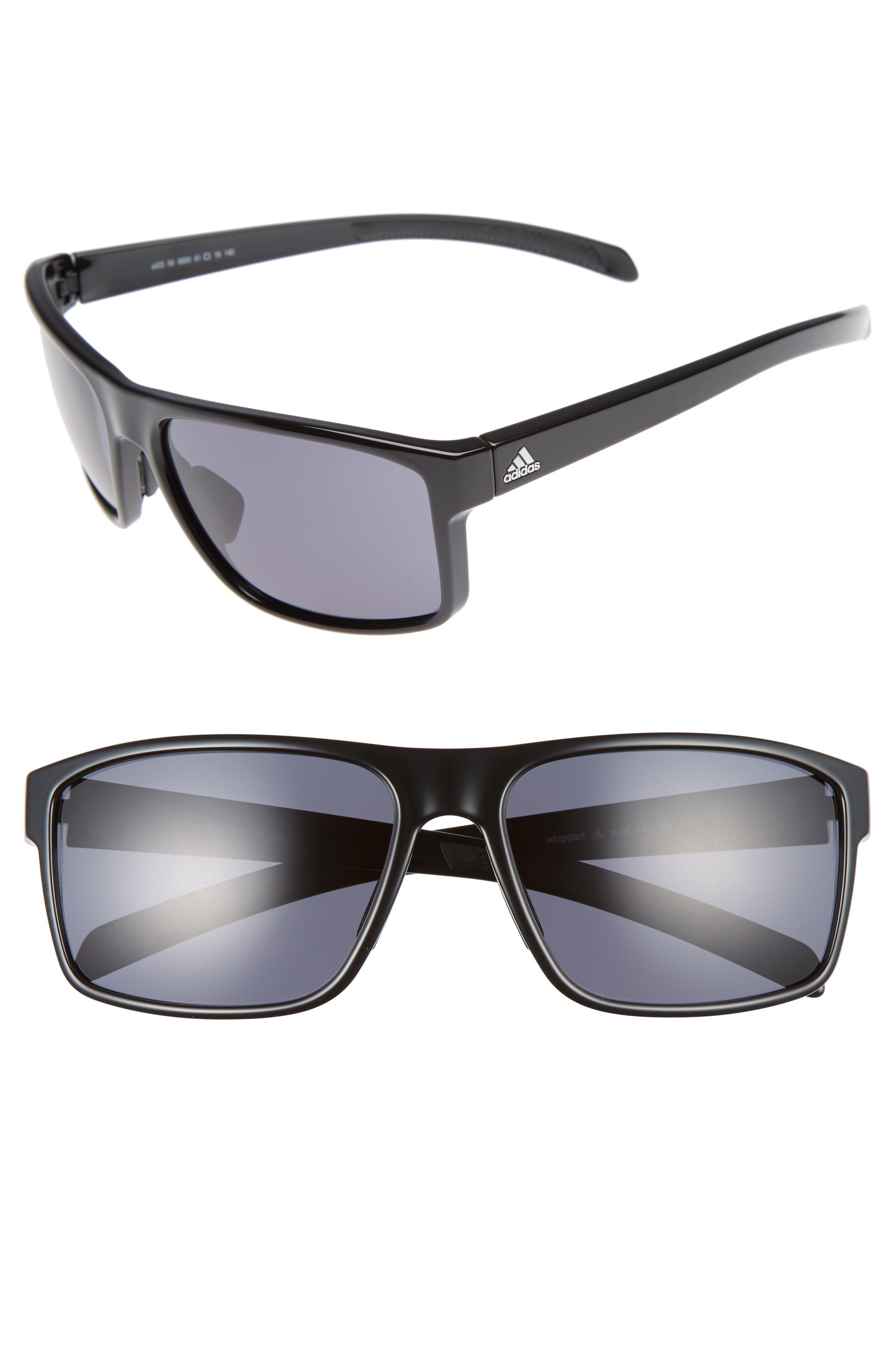 Whipstart 61mm Sunglasses,                         Main,                         color, Shiny Black/ Grey