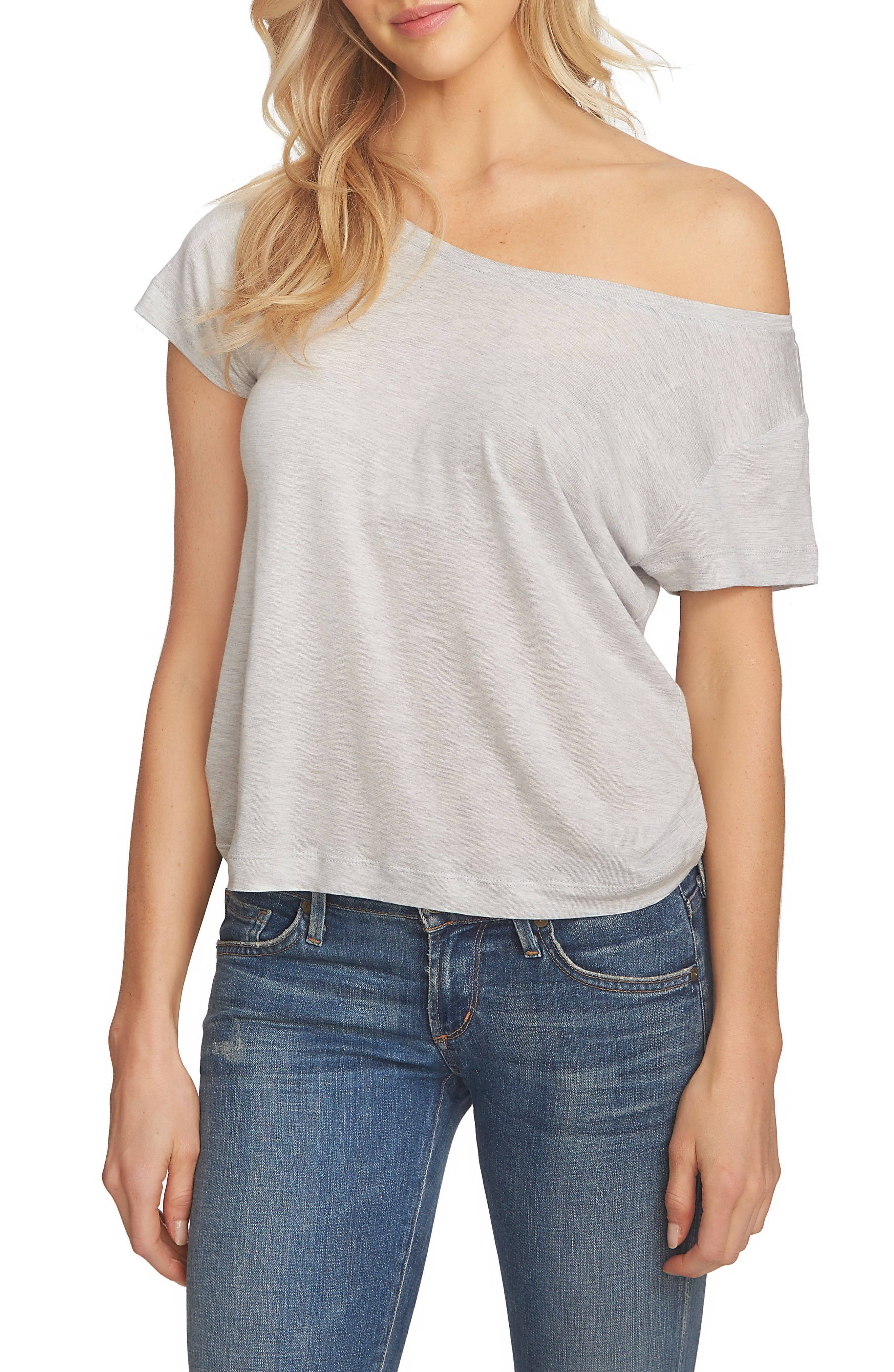 1.STATE One-Shoulder Tee